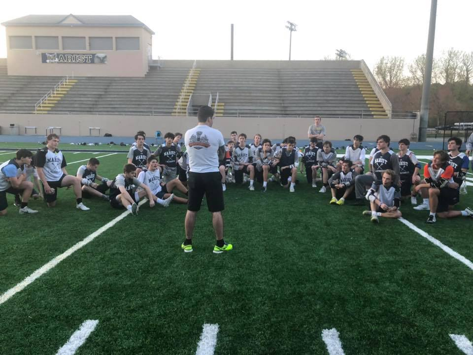 Teaching the marist boys' high school lacrosse team about mental agility, and how to focus on the little details that can help their team performance improve.