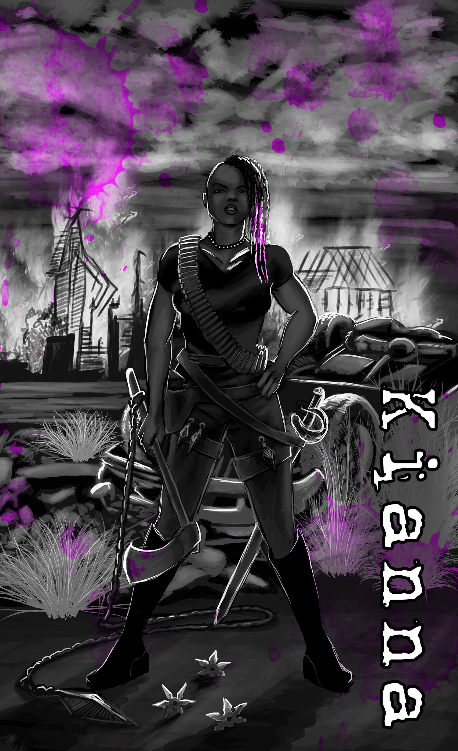 Kianna - Kianna is a force of nature unto herself. Refusing to wield any Sphere, she has instead trained herself in martial arts and weaponry. Those who haven't seen her fight would question how she'd survived so long; those who have seen her in battle have zero doubt. Not that anyone doubting her would say it to her face. Her wit is as sharp as her blade, and her tongue as focused as the aim of her pistol. The only person she puts up with is Aidan, and even that is questionable at times.