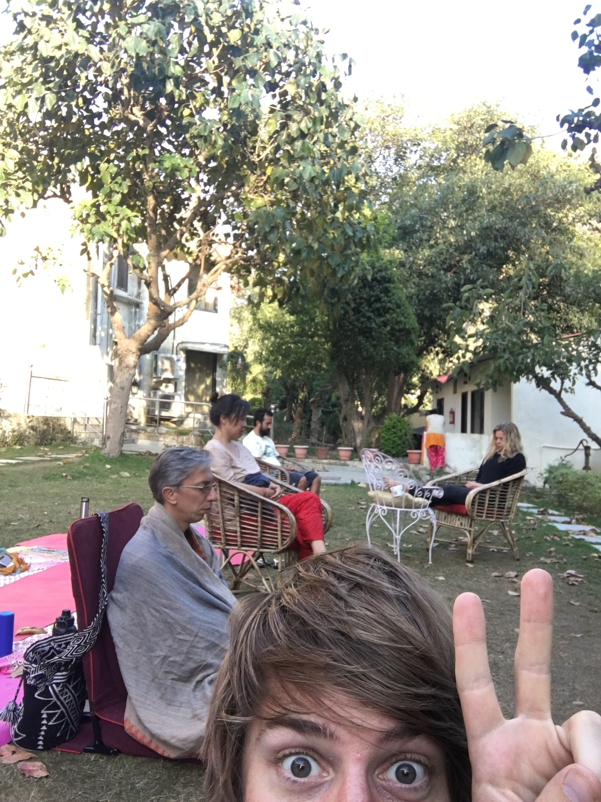 Meditating with my homies in Rishikesh during our teacher training