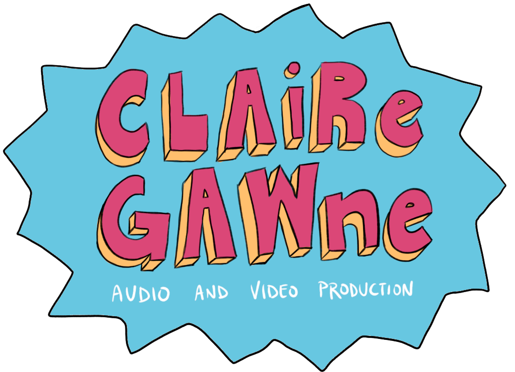 - Claire Gawne Audio and Video ProductionFreelance audio and video producer Claire Gawne asked me to make a custom series of logos and buttons for her website and business cards, designed specifically to her aesthetic. Visit her website at www.clairegawne.com.Digital.