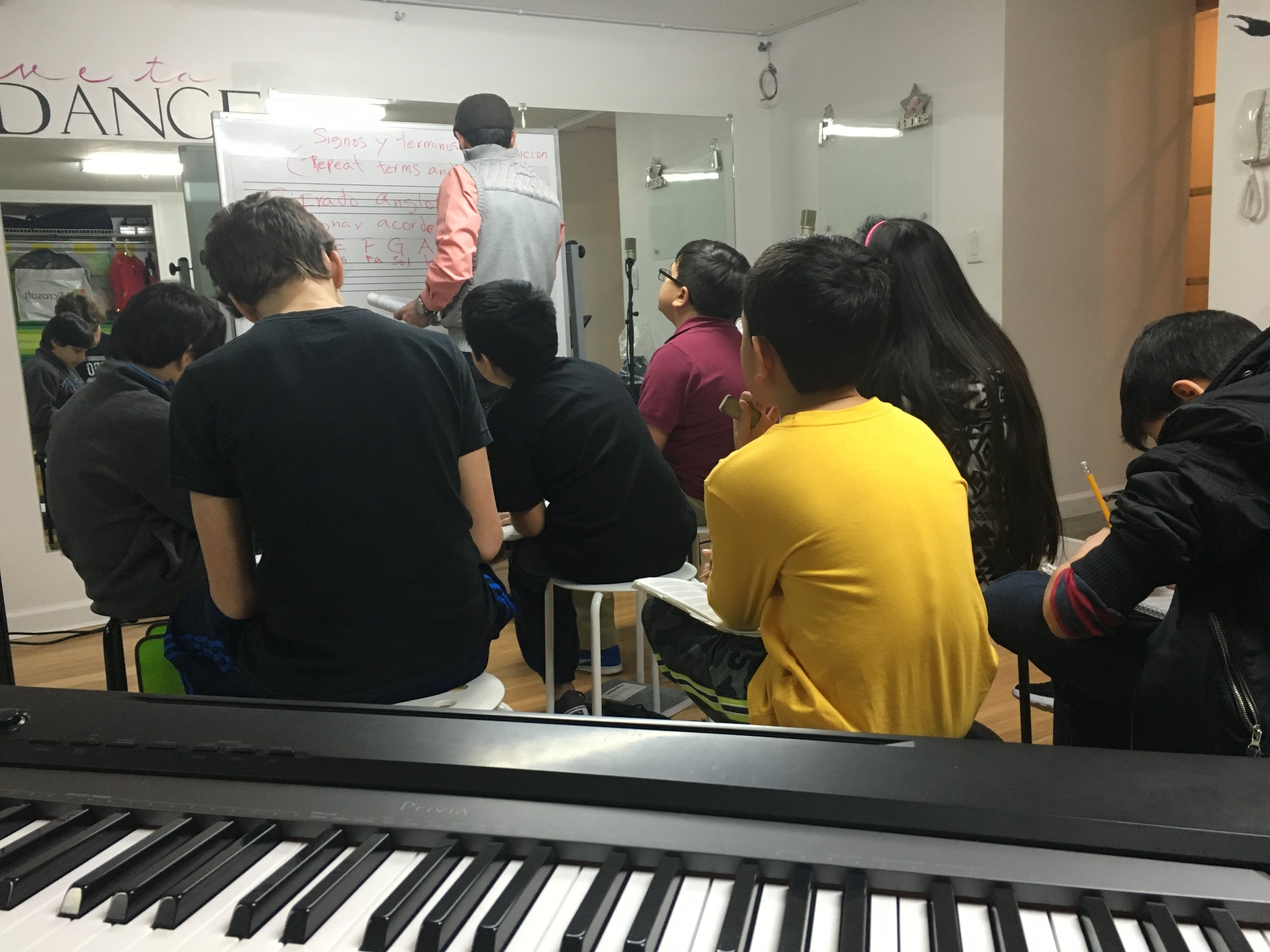 Music Theory Classes - In addition to the one on one lessons, music students take theory classes to enhance their musicianship.