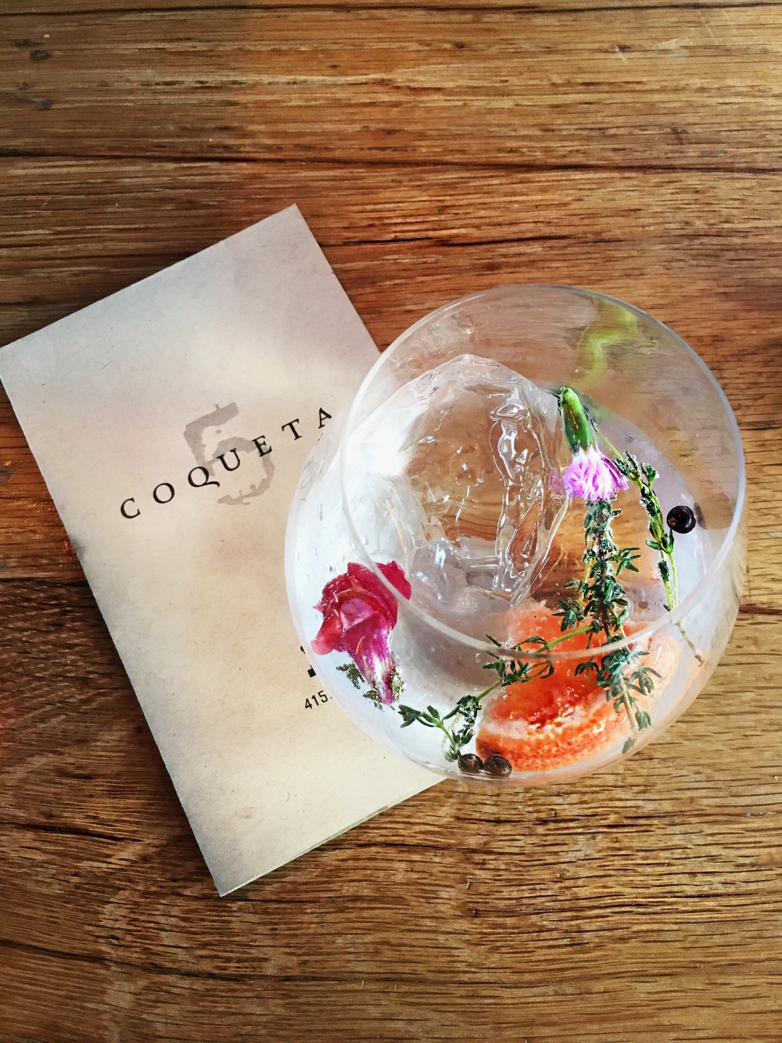 Coqueta - A tapas restaurant located right by the bay (and the Ferry Building) with amazing Spanish food and fabulous cocktails. The bar area is situated to the left (north side) and is typically vibrant, especially during warm, sunny days or prime dinner hours. But be forewarned that it is first-come first-served. The restaurant side understandably more structured and accepts reservations via Resy and OpenTable.Some of the must orders: Patatas Bravas, Octopus, Bikini, Pork Shoulder and the whole Branzino (Sea Bass). As for the drinks, they have an excellent selection of Spanish wine.(obviously) but they are also known for their gin & tonic cocktails. Some of my favorites include the Conquistador, a tart and fennel-based G&T that tastes far better than it sounds; and the Barça Gin & Tonic (pictured) with a citrus-herbaceous element.