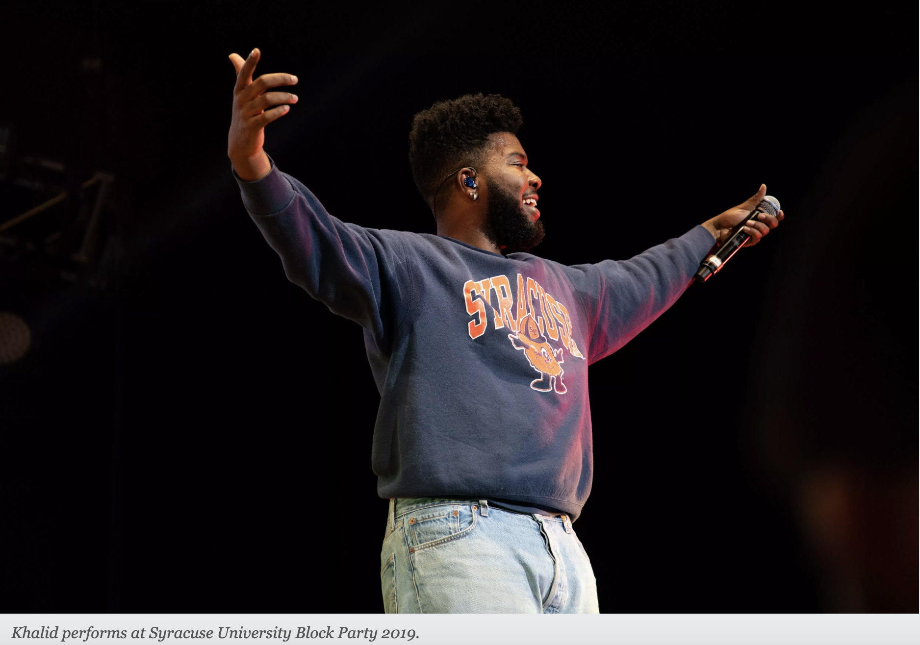 Khalid brings 'free spirit' to Block Party - I played a part producing this review as editor for Khalid's 2019 block party performance by Patrick Henkels. The R&B singer came and stirred the college crowd with heartfelt vocals and recent hits.