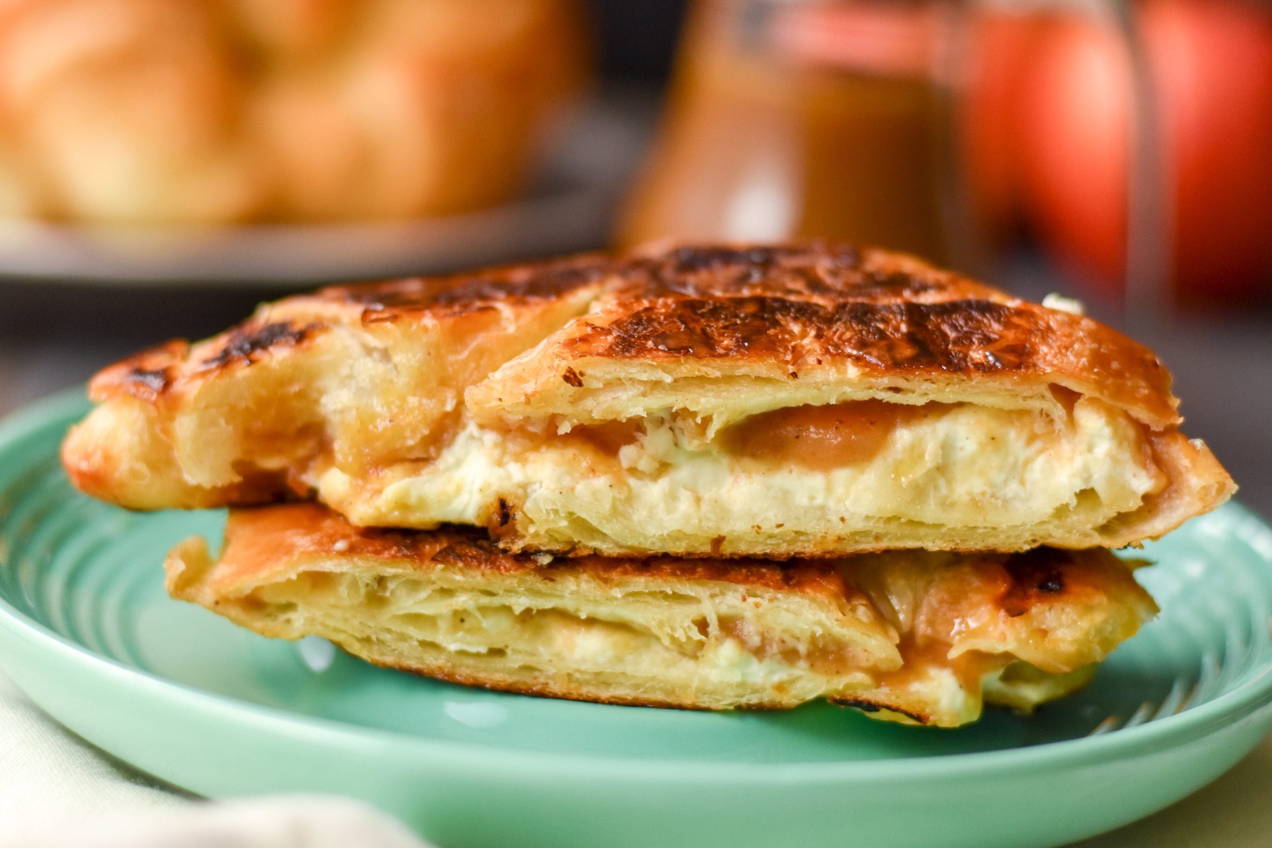 croissant grilled cheese