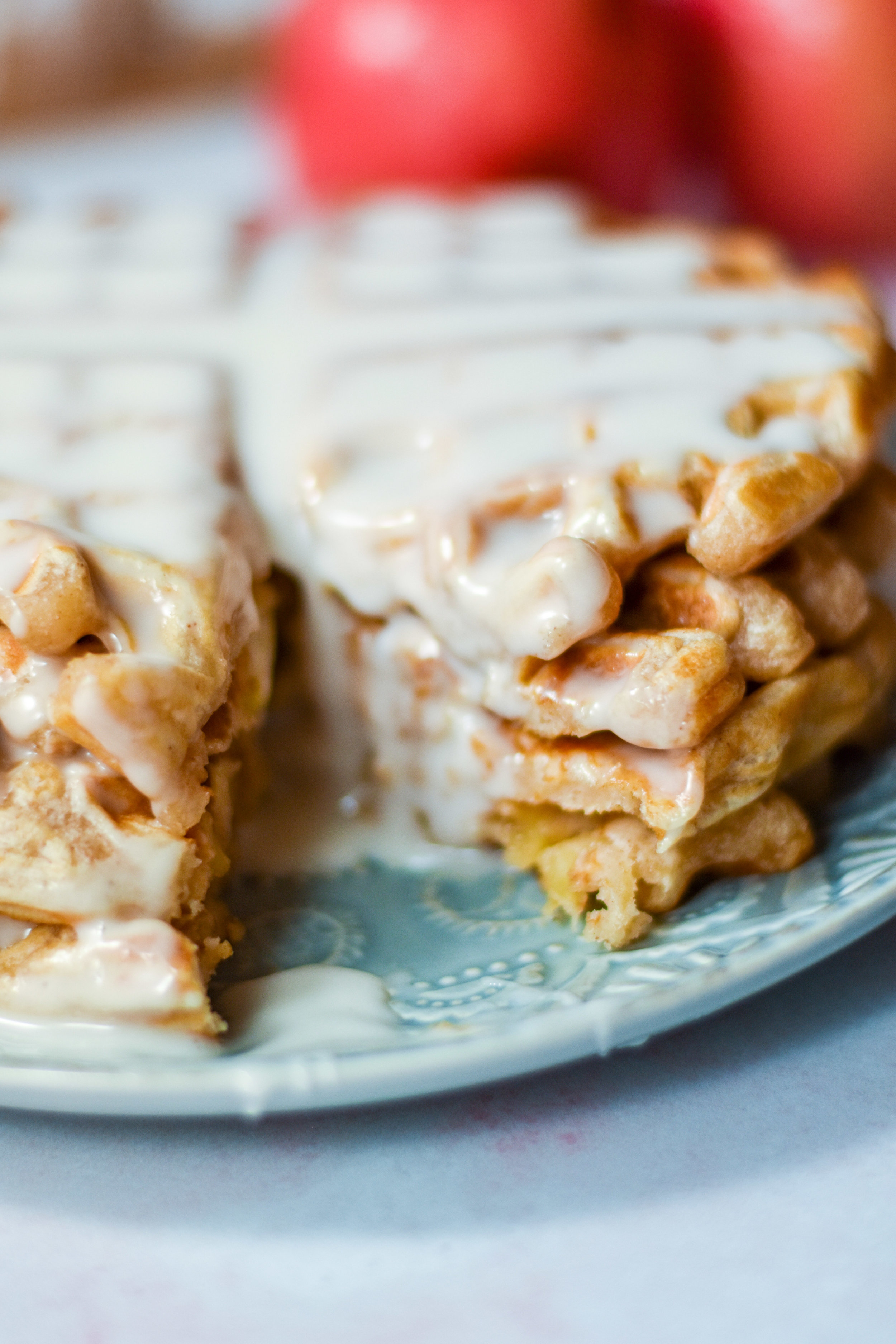 The world's best apple fritter waffles make a hearty and sweet breakfast.