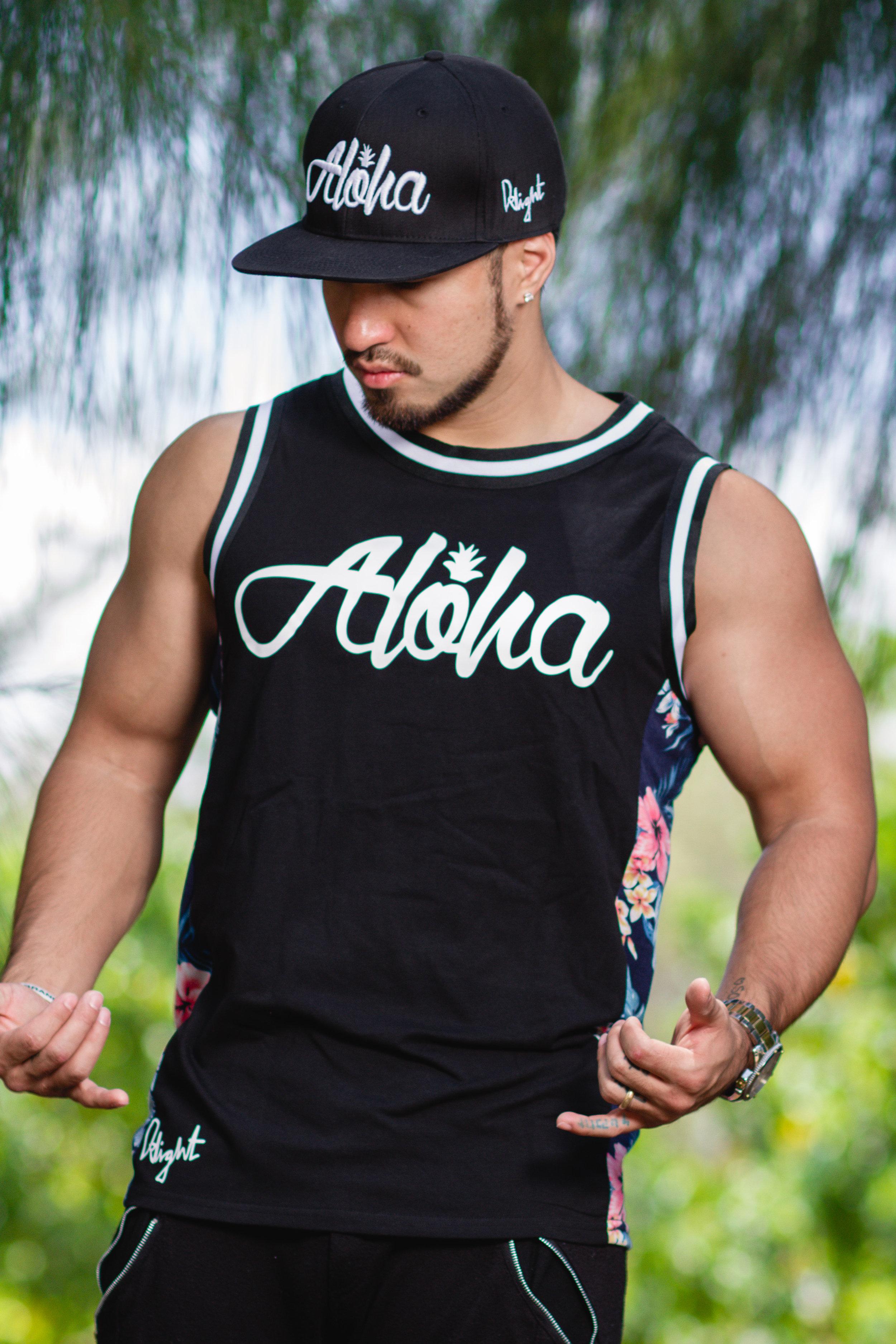 Premium Floral Aloha Pine - Adult Tank-Top