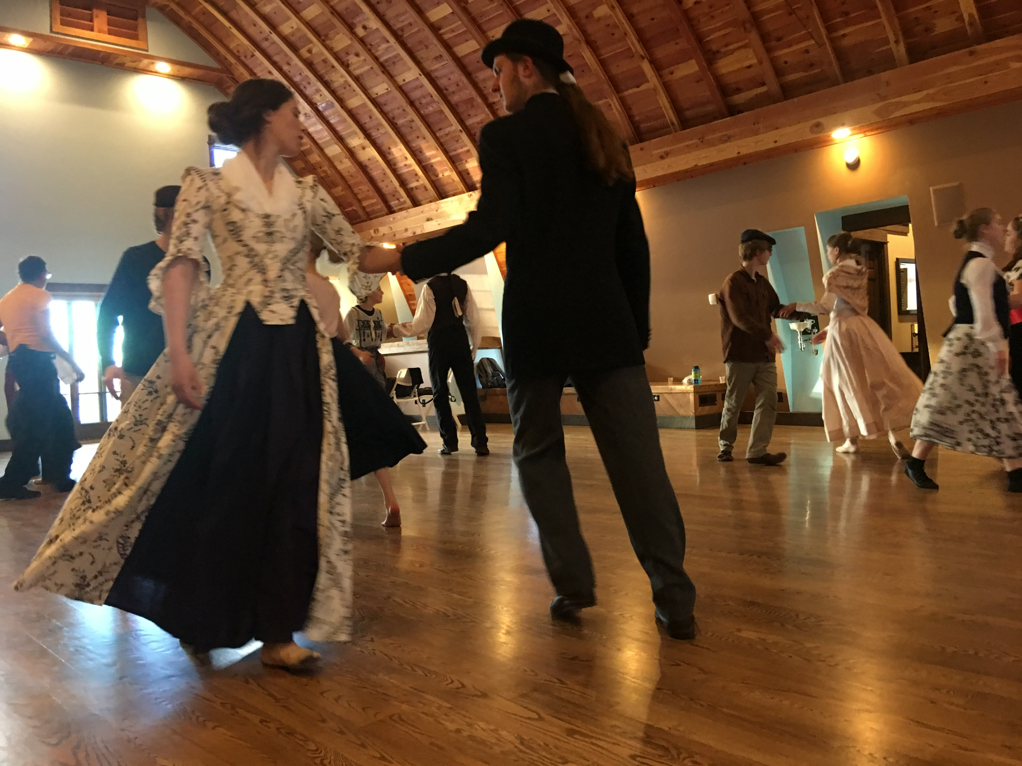 Ages 5 to 83 gathered - …during three days together to make music, attend concerts, and learn dances such as the Minuet - all accompanied by skilled musicians on such rare instruments as the hurdy-gurdy and the serpent horn.