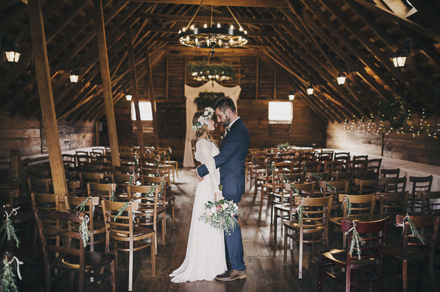 The beautiful totara-lined Loft is perfect for winter ceremonies.   photo: David Le Photography & Design