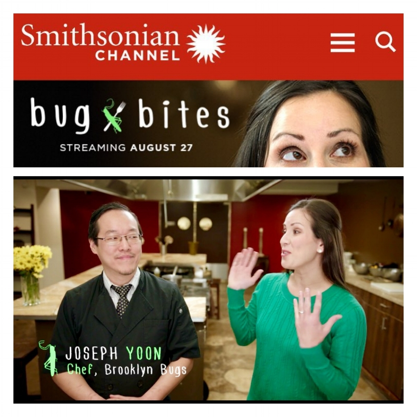 Bug Bites - Chef Joseph Yoon was featured on two episodes of Smithsonian Channel's #BugBites