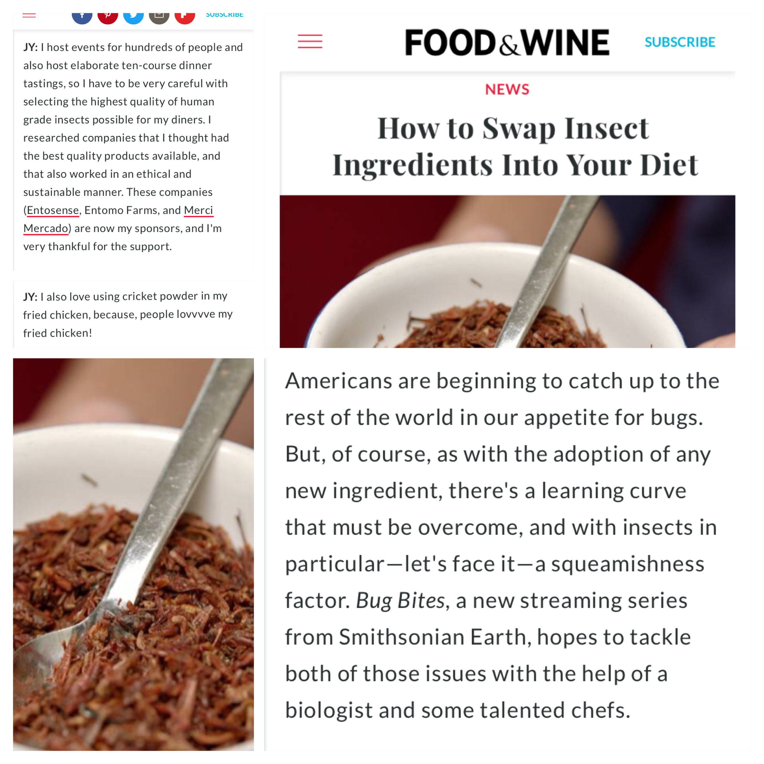 https://www.foodandwine.com/news/insect-ingredients-bug-bites-smithsonian-earth