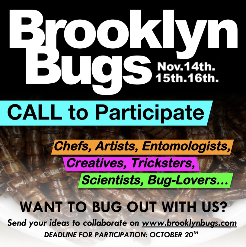 PARTIciPATE or volunteer - Would you like to participate or volunteer at the next Brooklyn Bugs Festival? Are you an ento-chef, do you have bug art, or have something you'd love to share with us? If so, get in contact and submit your ideas by Oct. 20th for consideration!