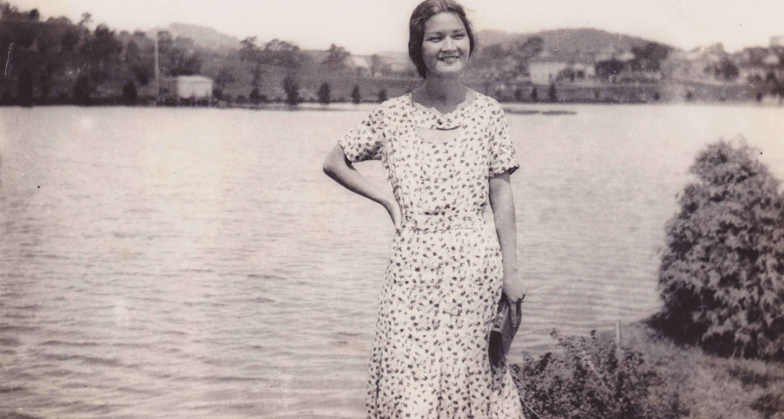 Marciana Sobrino Bonnivier, also known as Mama Chianang, at Burham Lake in Baguio, Philippines. Circa early 1930s. She is the mother of Carlene Sobrino Bonnivier.