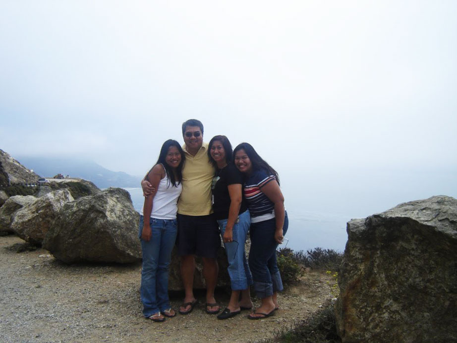 The Ilagan family in California circa 2006. From left: Abby, Wally, Ana, and Pia.
