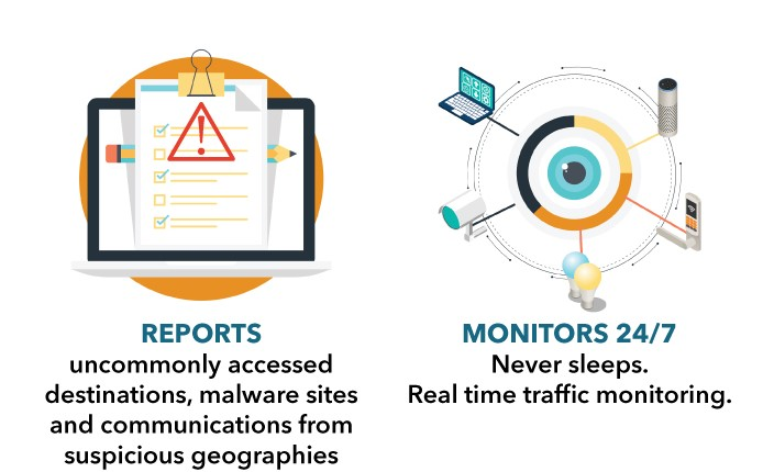 Sumos monitors 24/7 and reports vulnerabilities.
