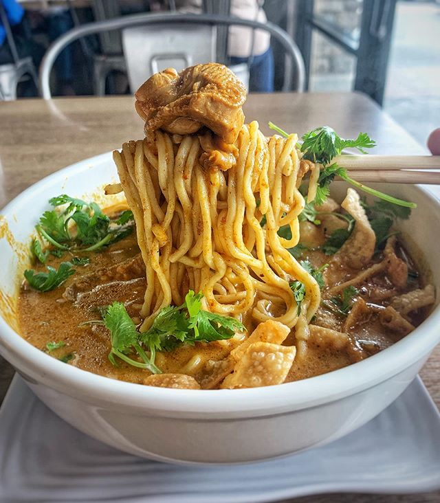 Spicy noodz anyone? Here @littlebuddhatk they have super tasty Khao Soi. It's a noodle dish mainly found in northern parts of Thailand. It's probably in my top 5 noodle soups if I had to rank how much I love Khao Soi.  💁♂️💁♀️ 5/5⭐️ The service here was top notch. I never had service like this at any Thai restaurant. The gentlemen who helped me was extra polite, and consistently checked up on me.  😋 4.4/5⭐️ on food. One of the best Khao Soi I've had at a Thai restaurant. I typically don't order this, but it was highly recommended by the worker. 7/10 times the worker know what's good. Their Khao Soi was perfectly spicy, thick broth, and large. I was so full at the end of my meal.  📍6237 Pats Ranch Rd Mira Loma, CA 91752  💰 $8-$15  #khaosoi #noodles #noodz #thaifood #spicyfood #currynoodles #currynoodz #thaicurry #curry #ieyelp #iefoodie #instafood #foodlover #instafood #foodstagram #hypefoods #yum #foodies #food #foodie #forkyeah #foodgasm #foodporn #yelpoc #yelpla #sendnoods #food4thought #laxkeodo #sweatyfoodie #lunchwithla