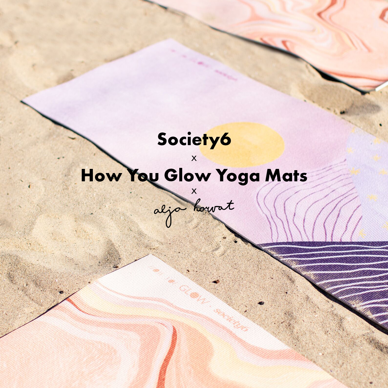 Society6 X How You Glow Yoga Mats X Alja Horvat
