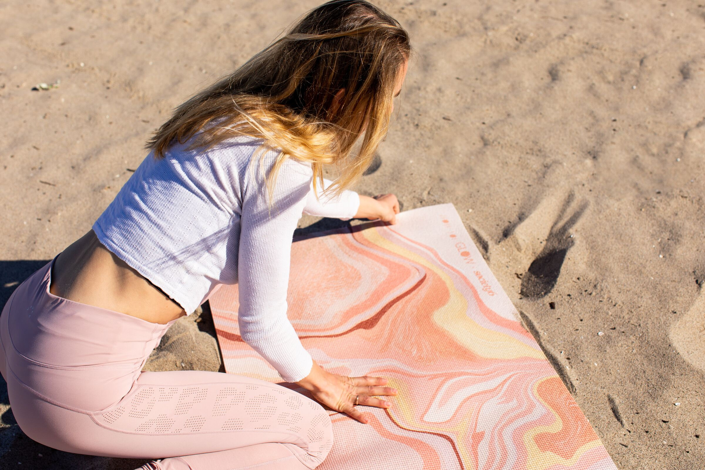 """Society 6: Yoga Mats - """"We partnered with leading lifestyle brand How You Glow to create a pair of exclusive, special edition yoga mats. The mats feature designs by Society6 artist, Alja Horvat, to inspire conscious, health-driven individuals to"""
