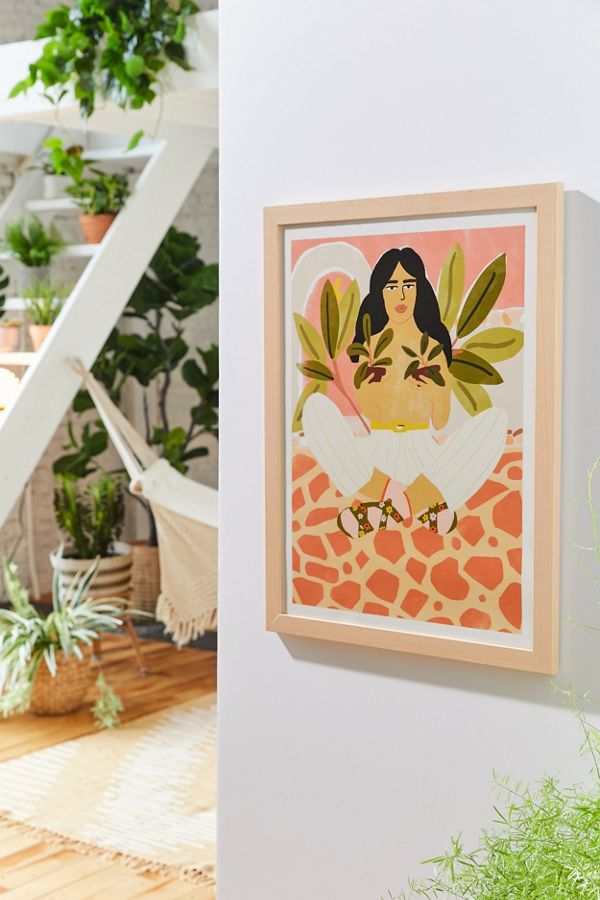 """Crazy Plant Lady"" Art Print   It's just you and your plants with this UO-exclusive art print by Alja Horvat."