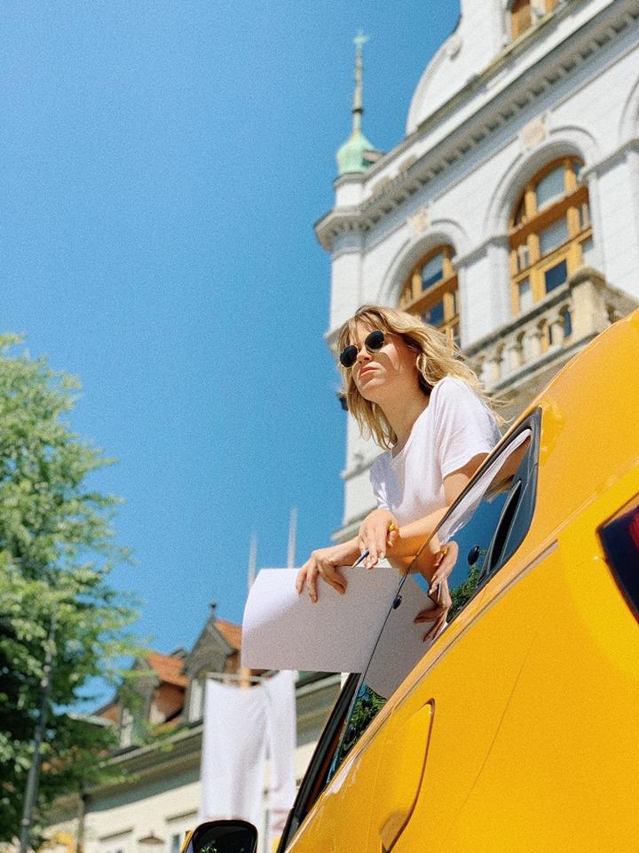 """Collaboration with Renault - From Renault:""""Alja Horvat Illustrations je mlada slovenska ilustratorka, ki jo je novi Twingo zapeljal po urbanih ulicah Novega mesta, mesta, ki ste ga za ta podvig izbrali prav vi!"""""""