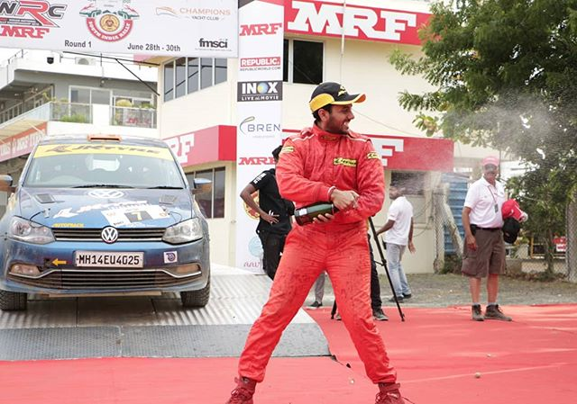 Round 1 of INRC comes to an end with @deanmasc stealing the show🔥 @inrc.india @jktyre_motorsport @team_champions_motorsports @fmsciofficial