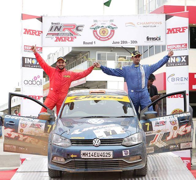 The proud winners of INRC Round 1! @inrc.india @jktyre_motorsport @fmsciofficial @team_champions_motorsports