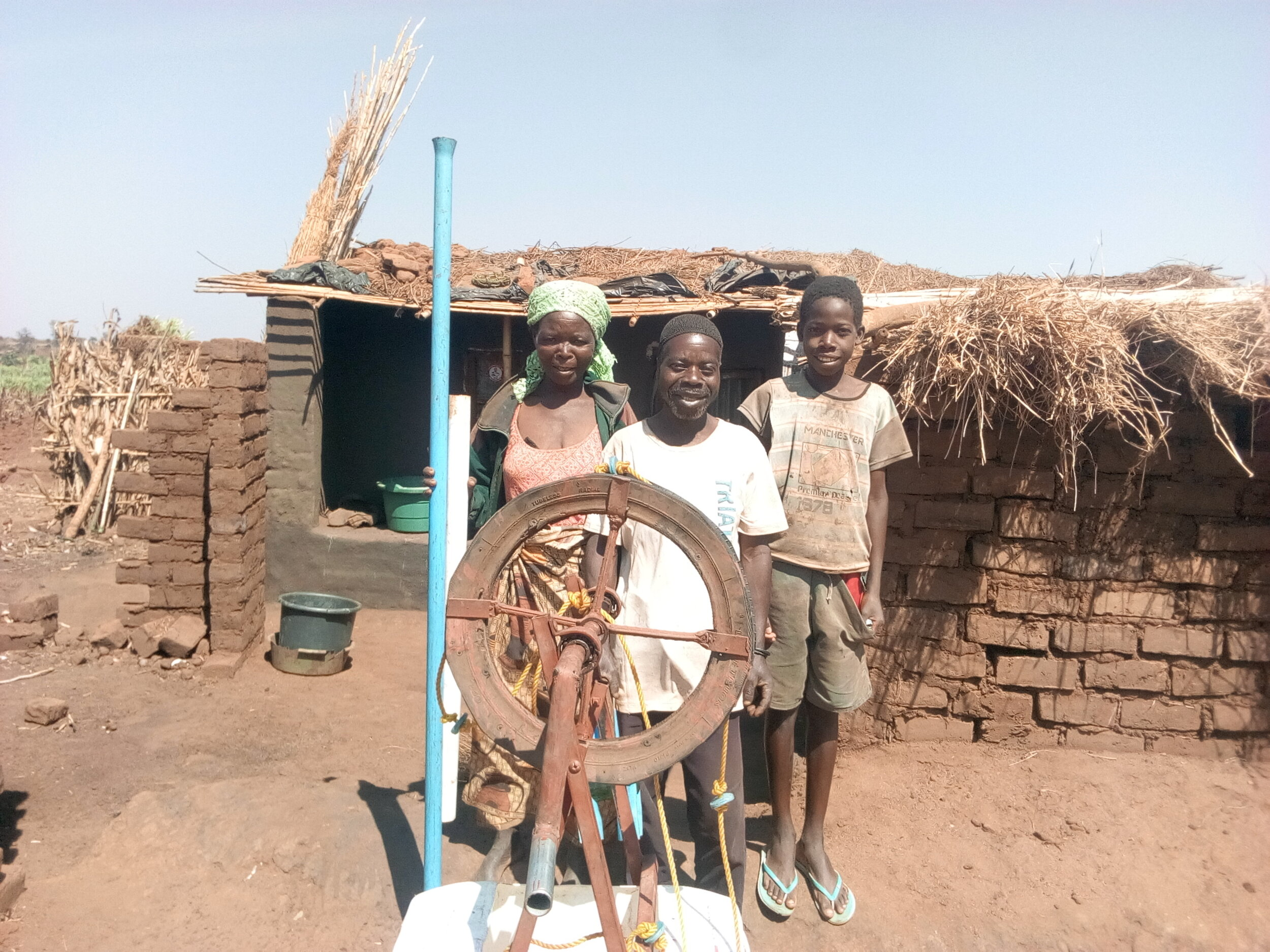 Mizeki Sayilota, member of the Ntchinji Club just received his rope and washer pump! 1 out of 2 Malawians survive on less then $1.90 (US) a day. This pump makes it possible for them to grow food to eat and to sell — No more Hunger Season for the Sayilota's! Thank You for making this possible!