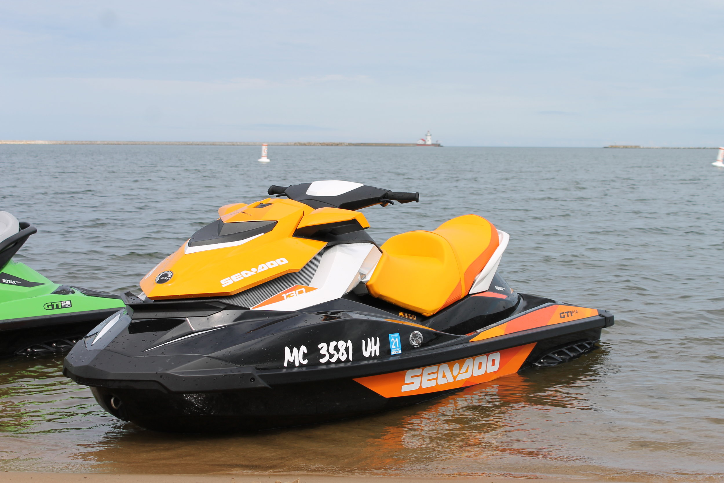 The Orange - 2018 SEA DOO GTI 130 SE3 cylinder, 4 stroke, electric start, automatic, reverse3 seats, 132.6 in x 48.5 in, 15 gallon gas tank capacityautomatic trim