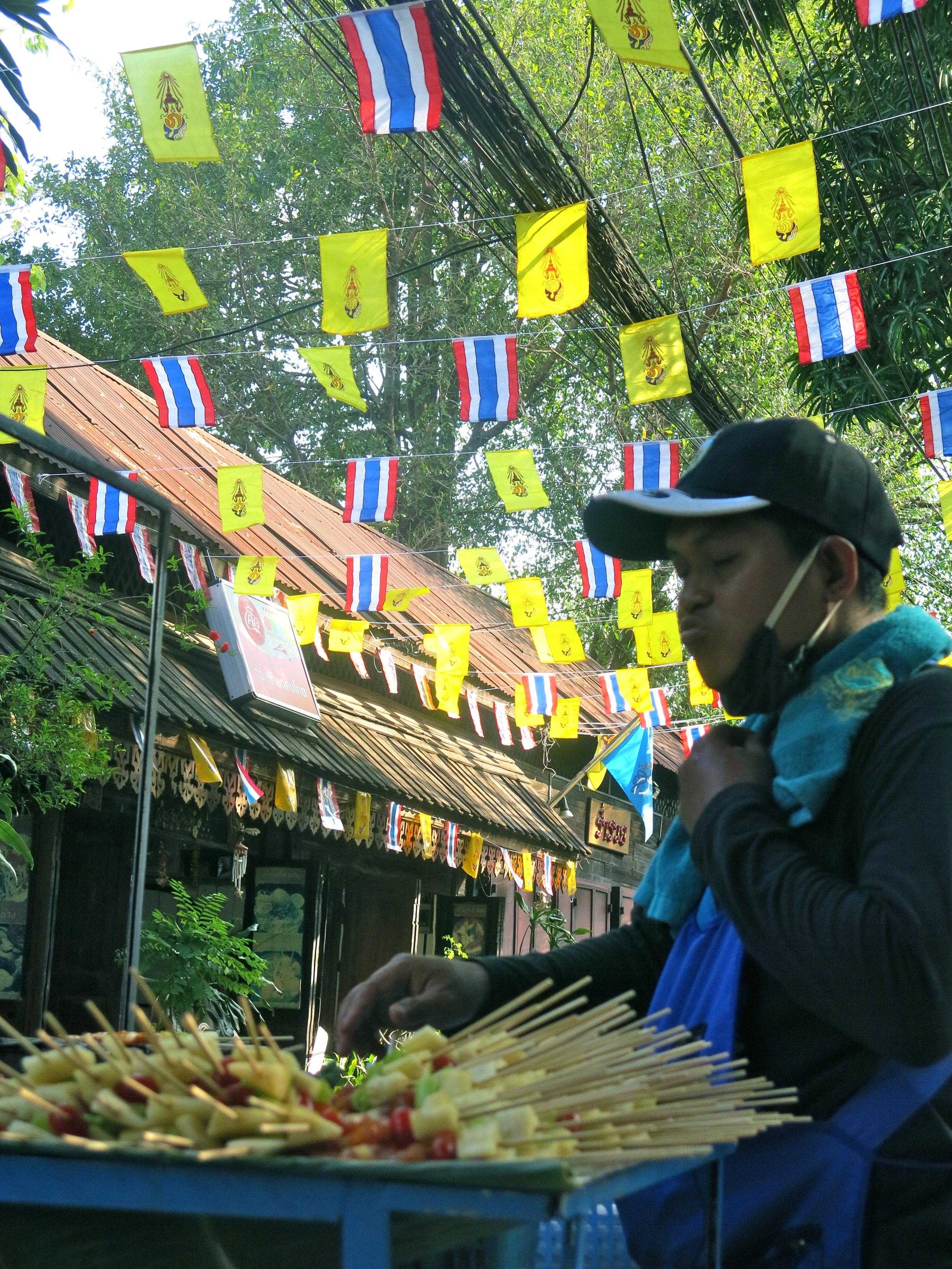 Street food stall in Thonburi district