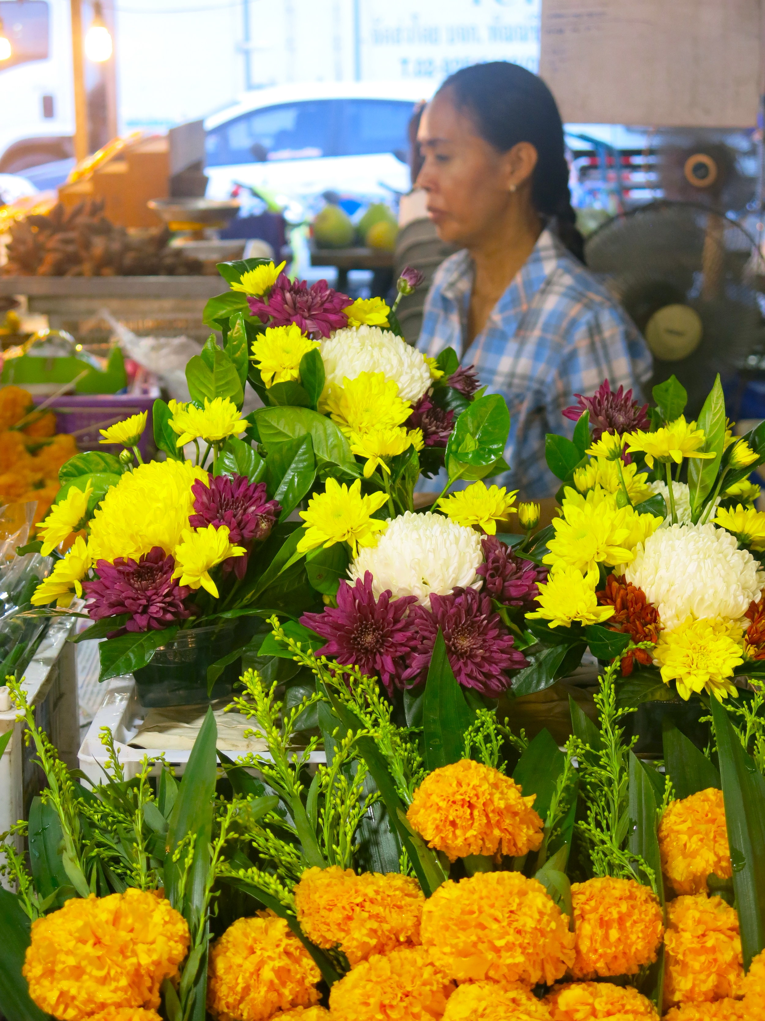 Flower stand at Krabi Town night market