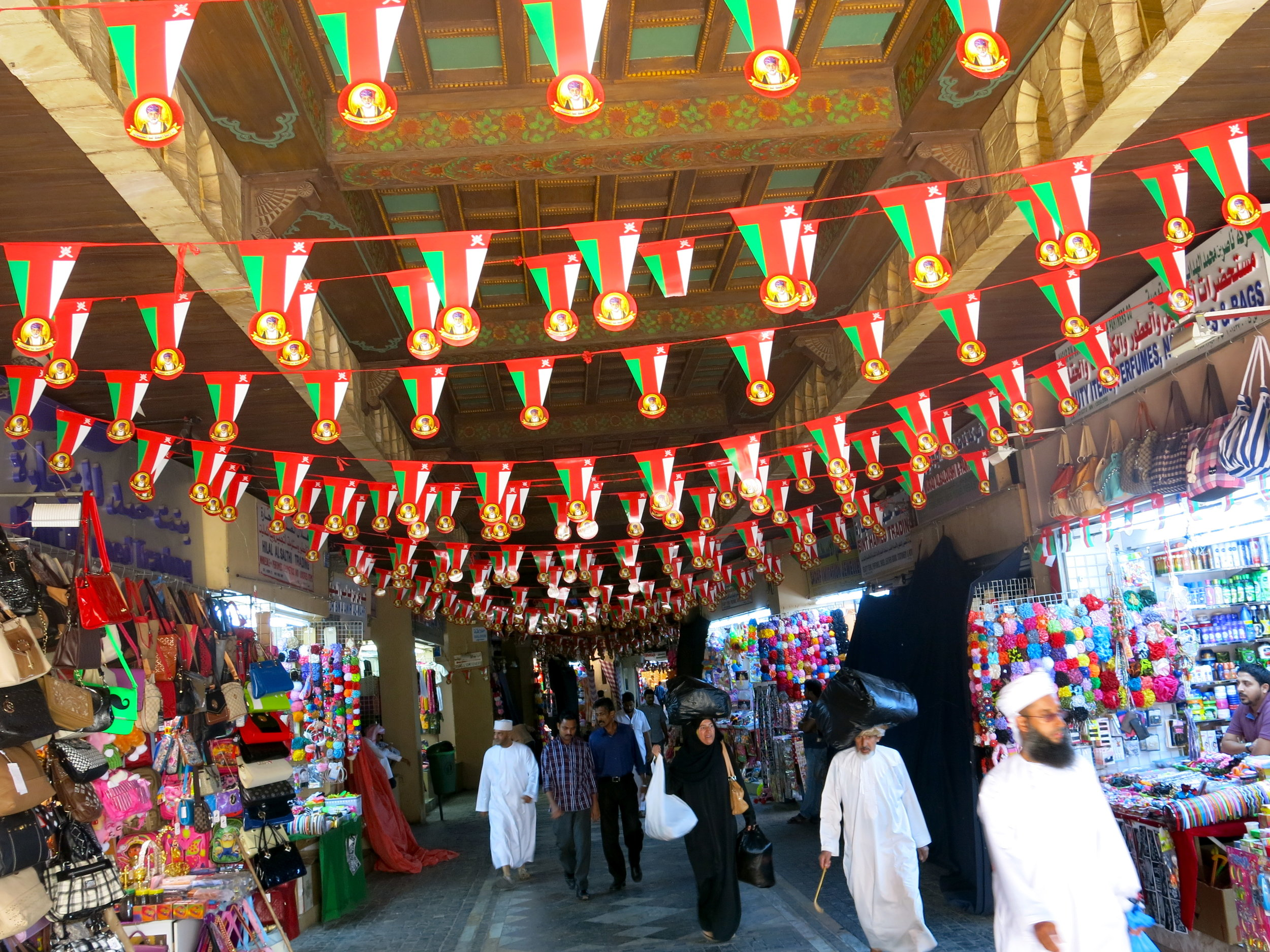 Inside the old souk of Muscat