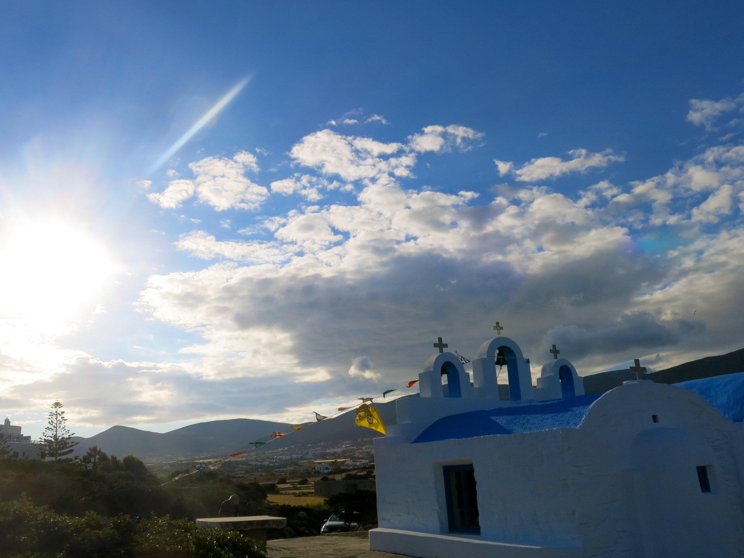 The church of Agios Georgios by the sea outside Dryos