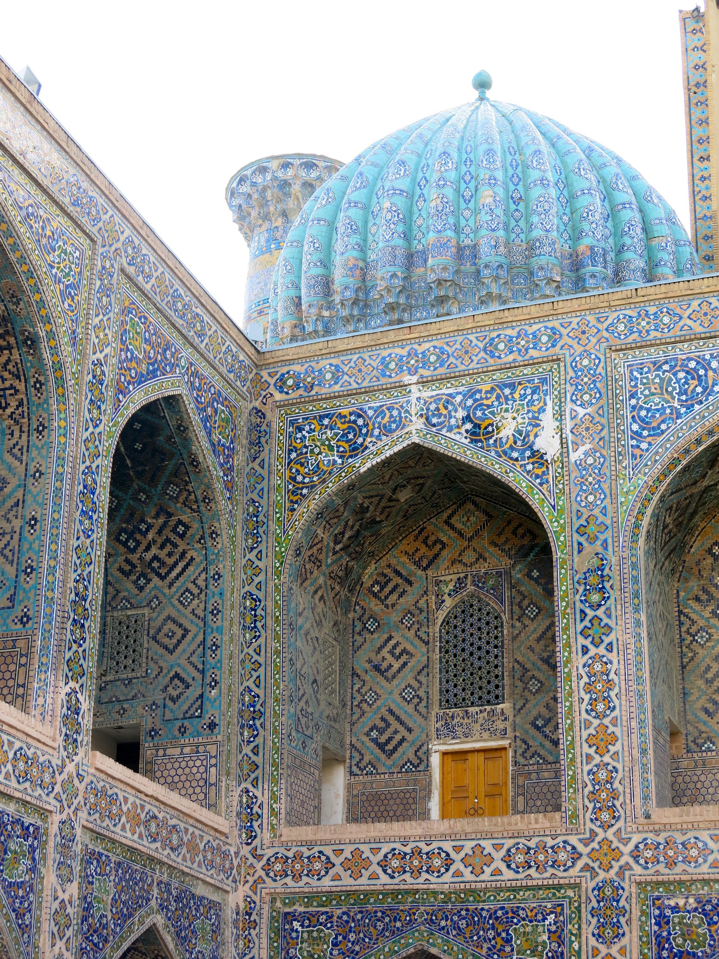 Fantastic view from the inner courtyard of the Sher-Dor madrasa