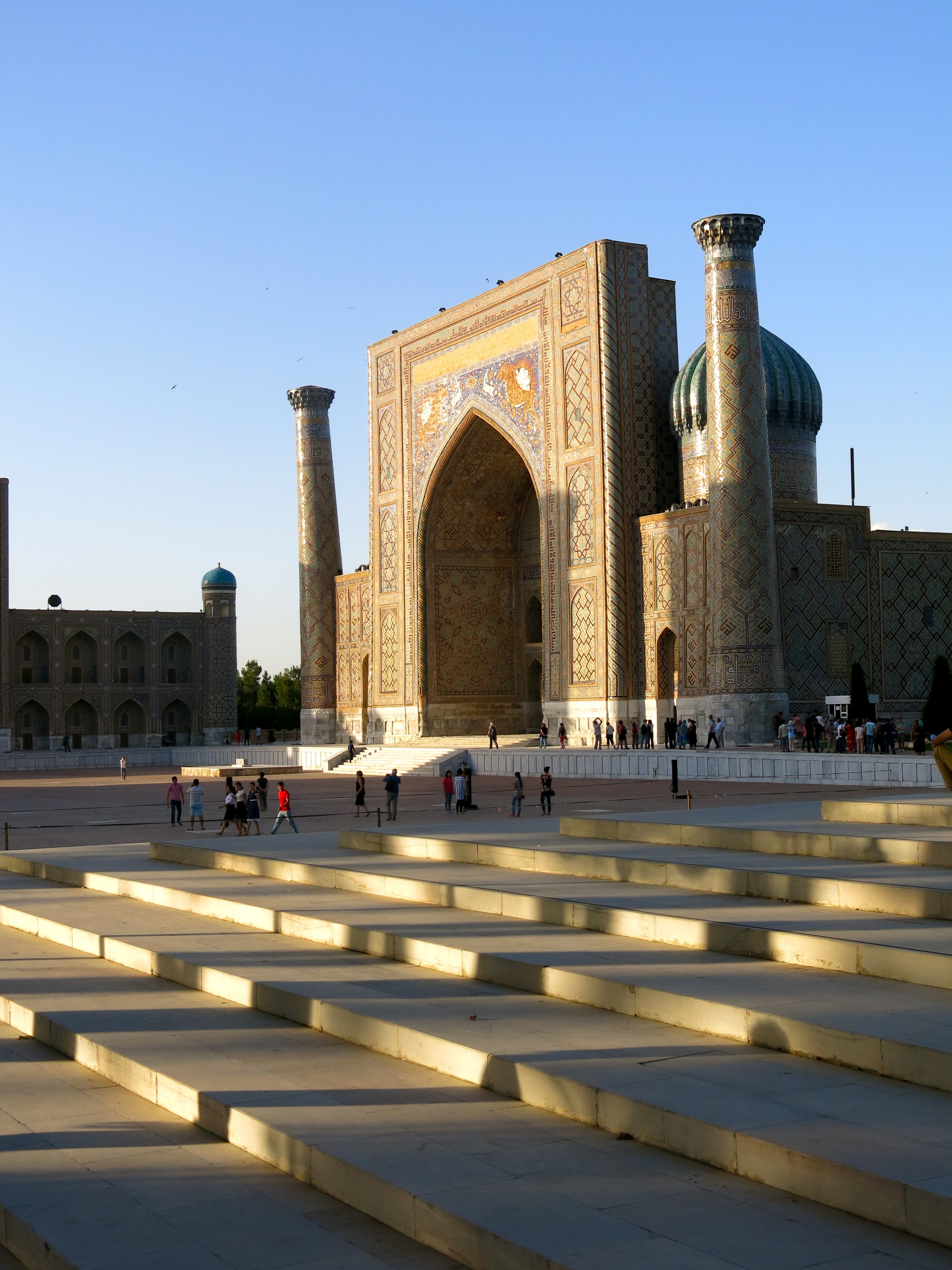 The best time to visit Registan is late afternoon