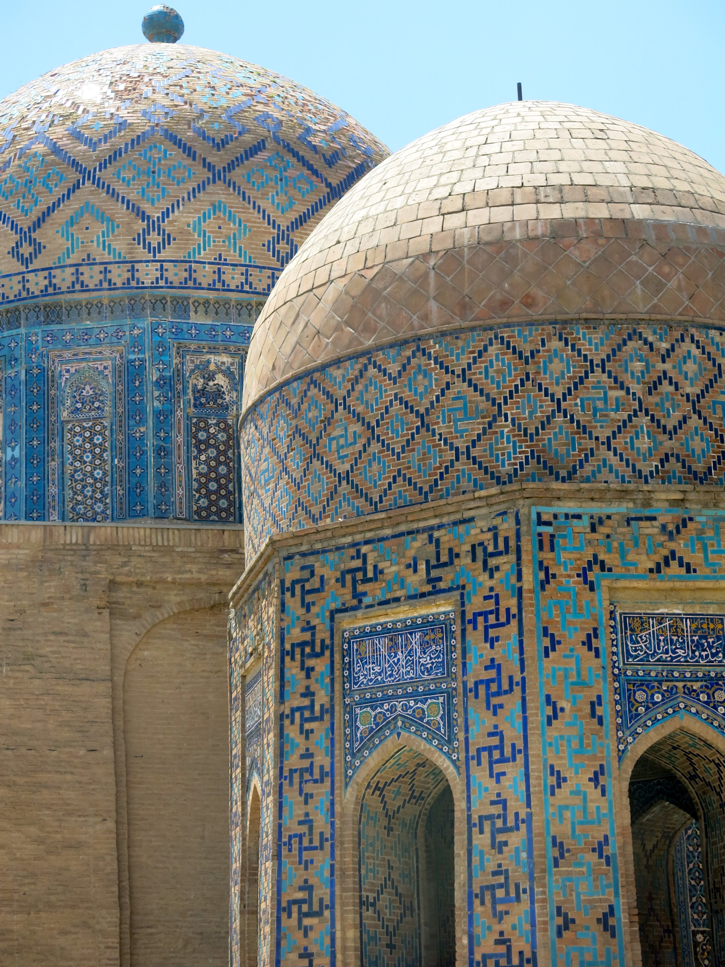 Shah-i-Zinda hosts the tombs of famous locals from the past