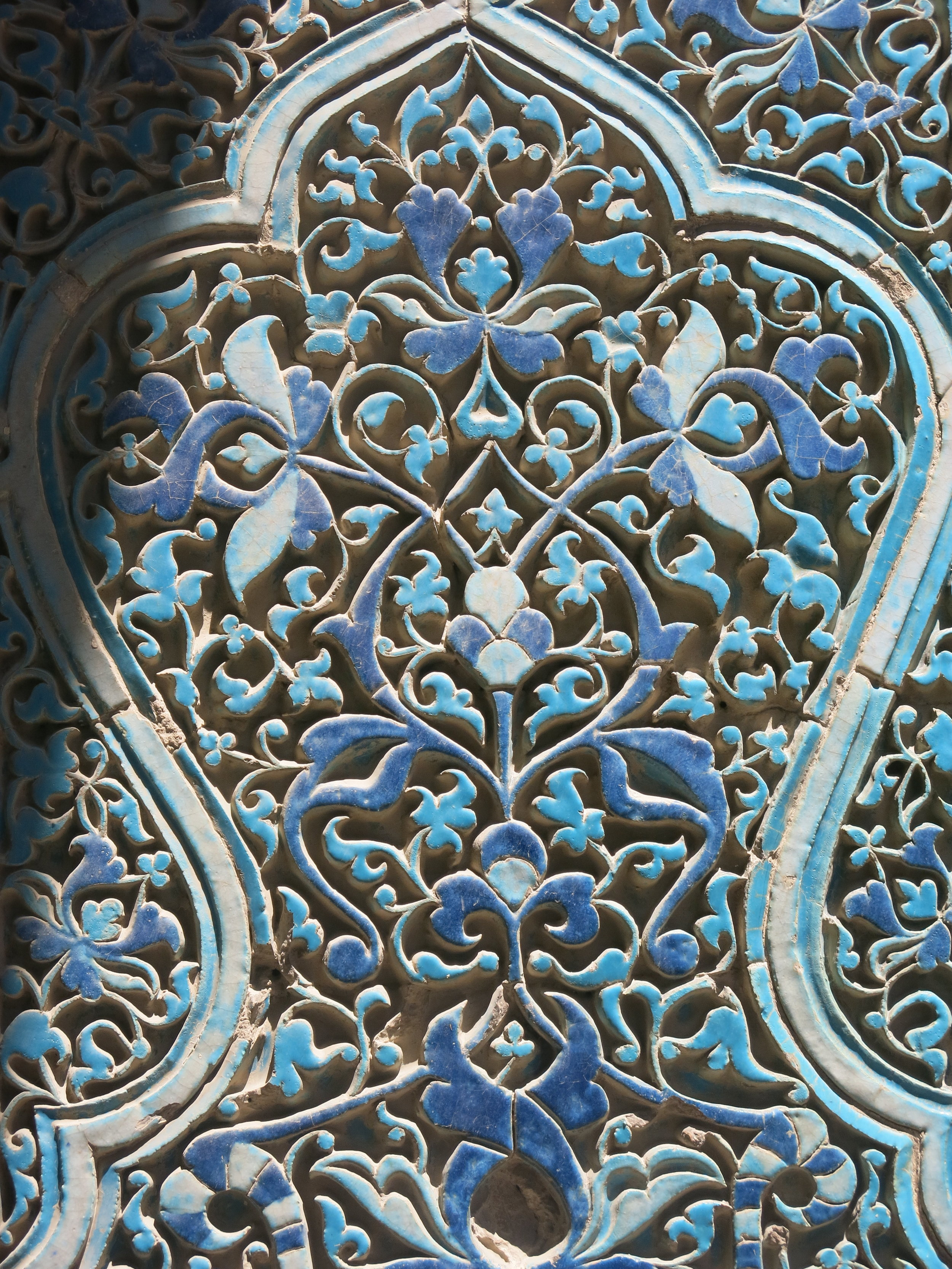 An explosion of architectural details in all shades of blue