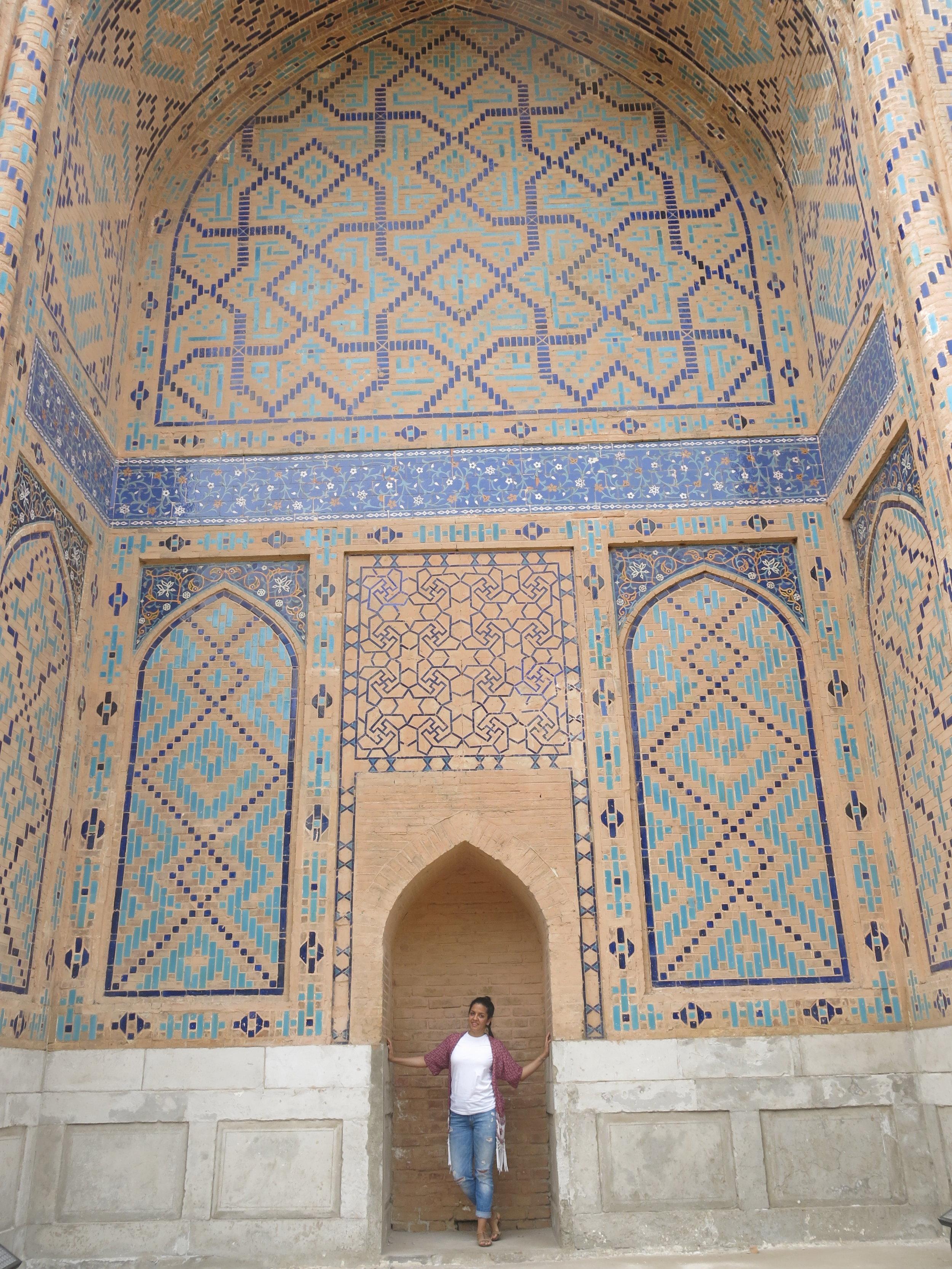Amir Timur built the mosque for his wife, Bibi-Khanym