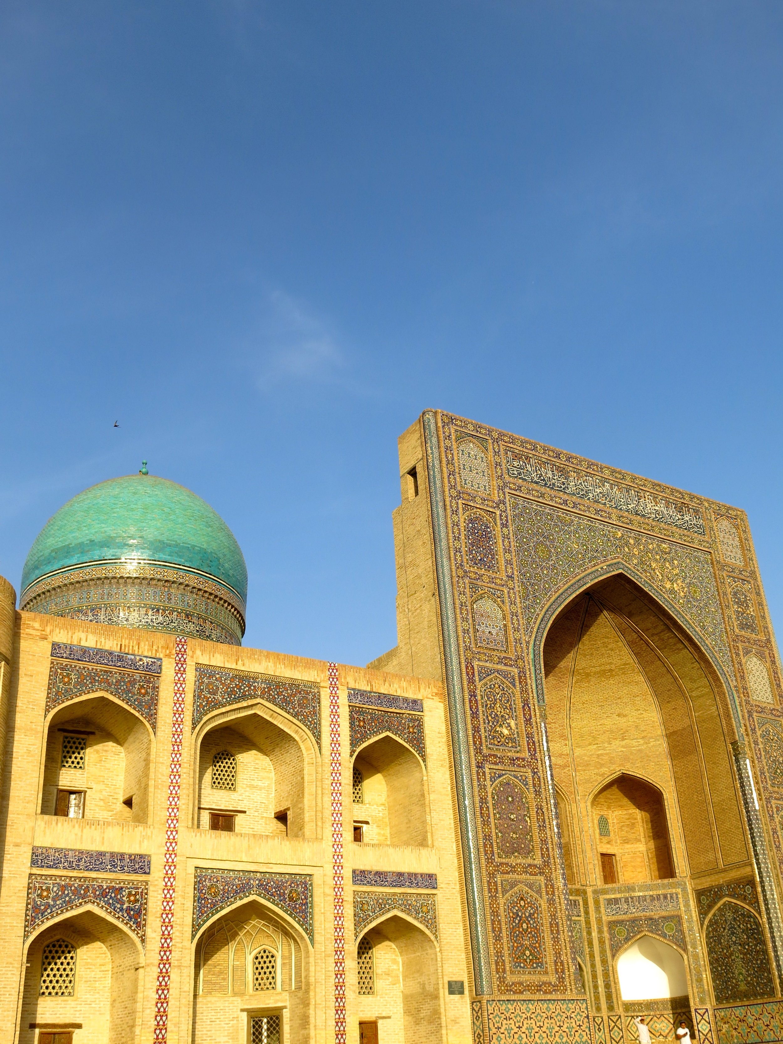 The Mir-i-Arab madrasa is still serving as a theological school