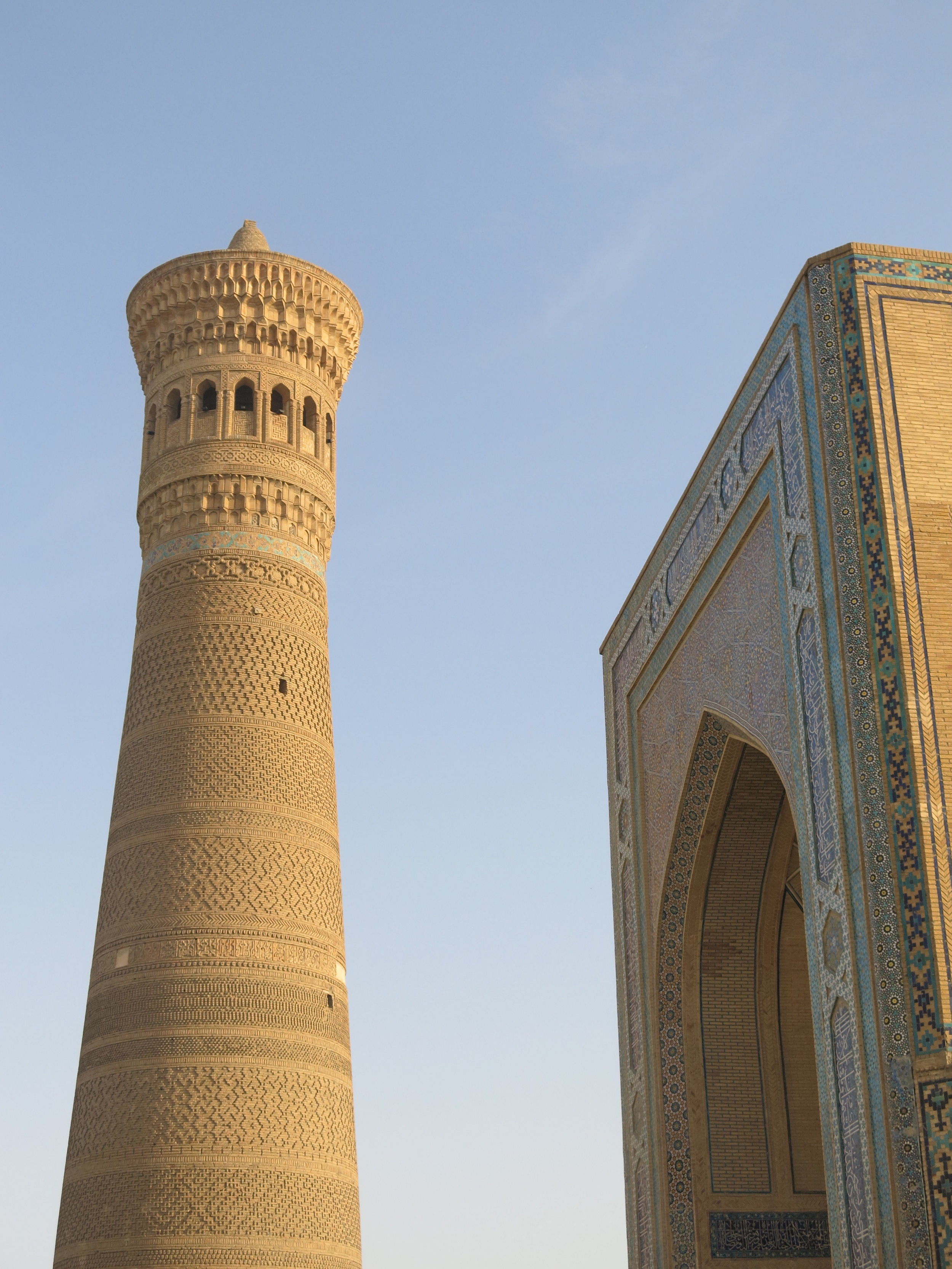 The Kalyan minaret culminates at 45 meters