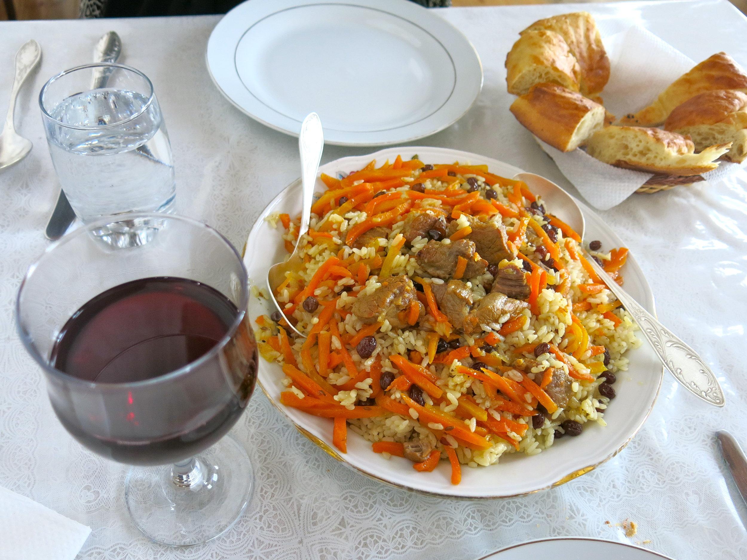 Homemade Plov, the Uzbek national dish