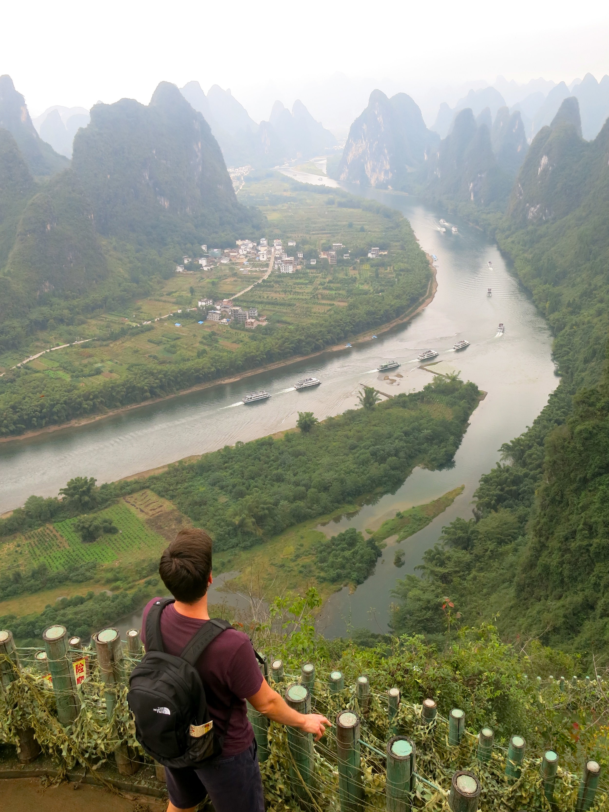 View on karst mountains in the south of China