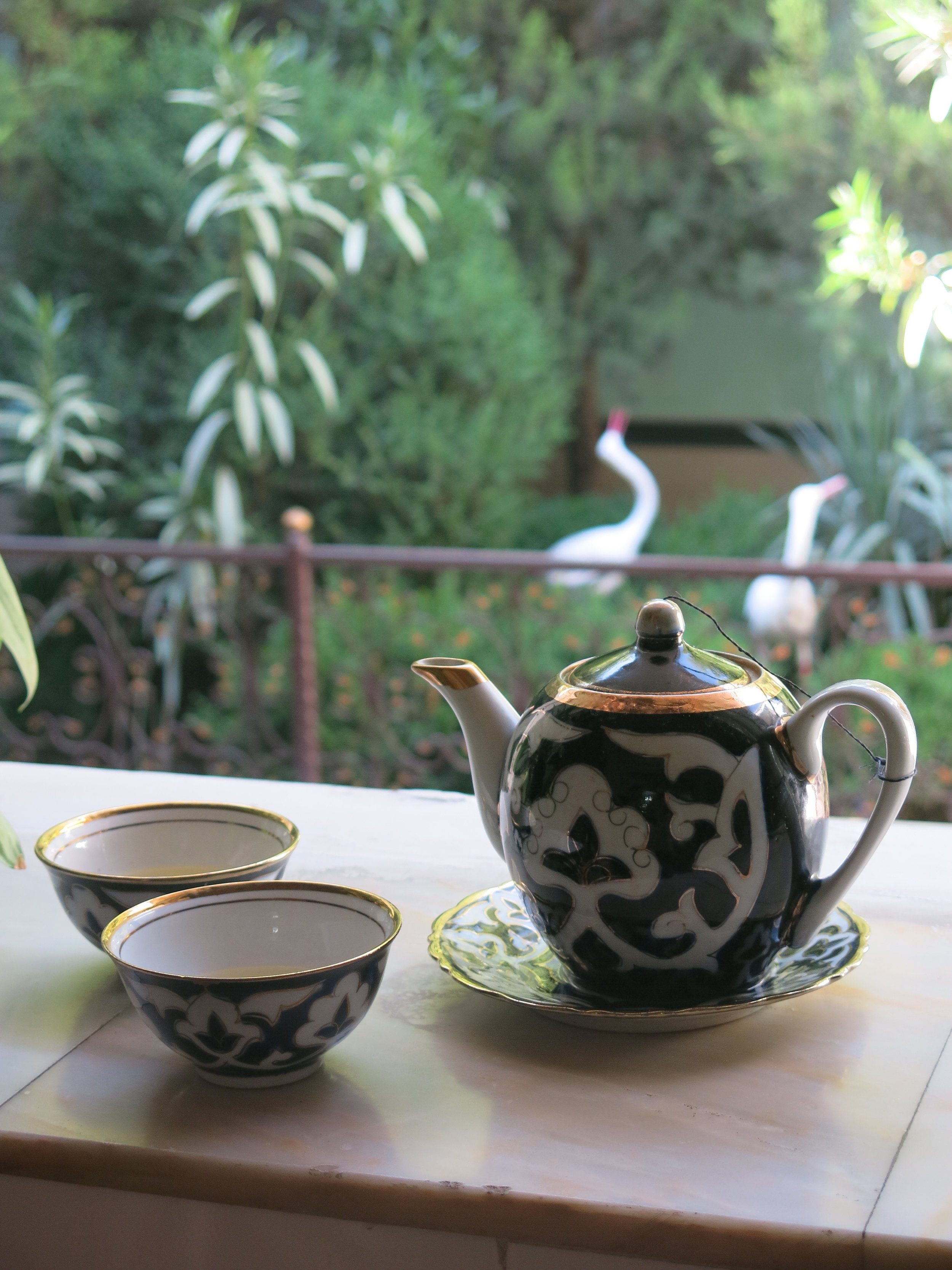 Green tea after a meal in Samarkand