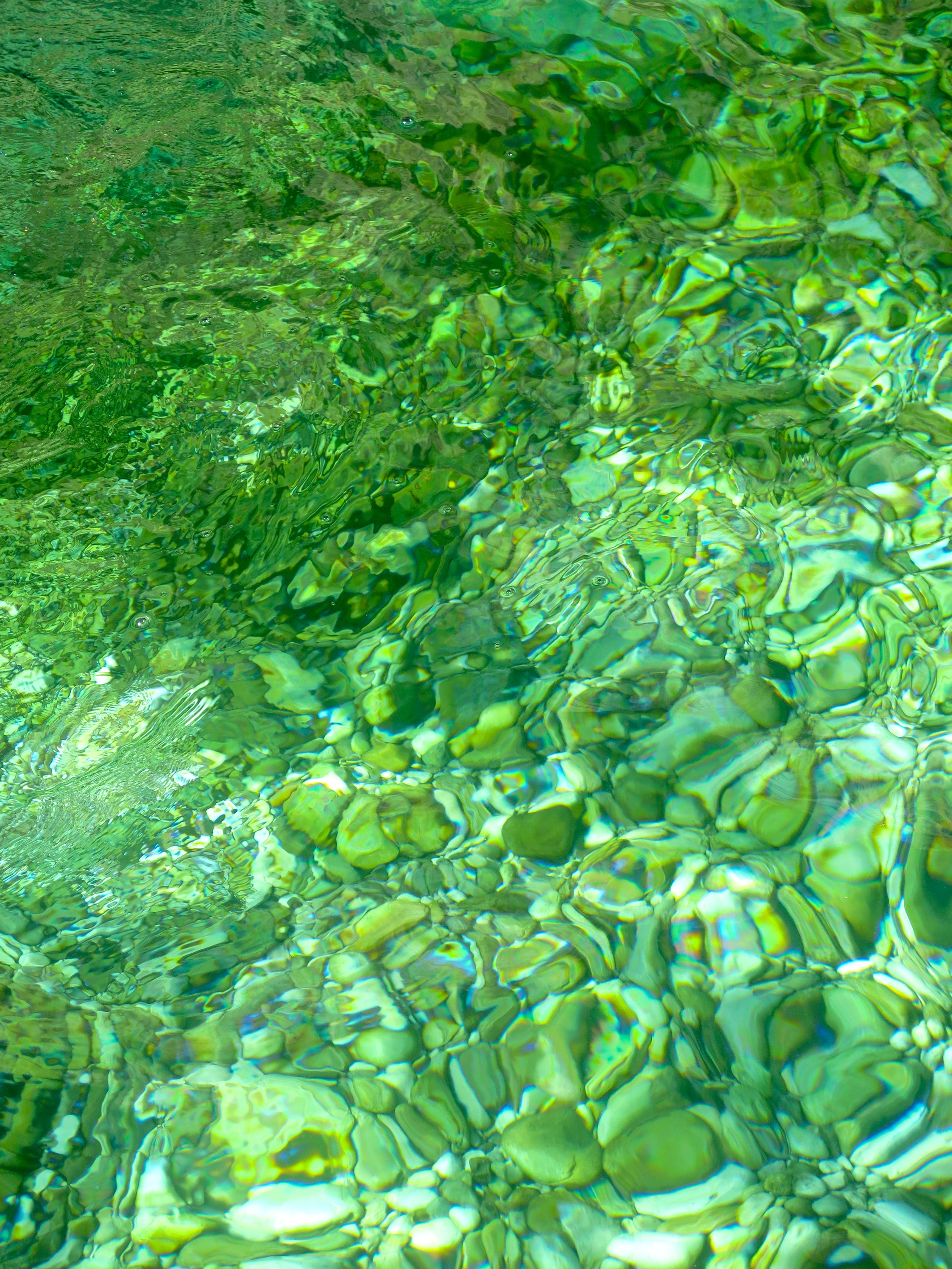The water of Wadi Bani Khalid is pure and transparent
