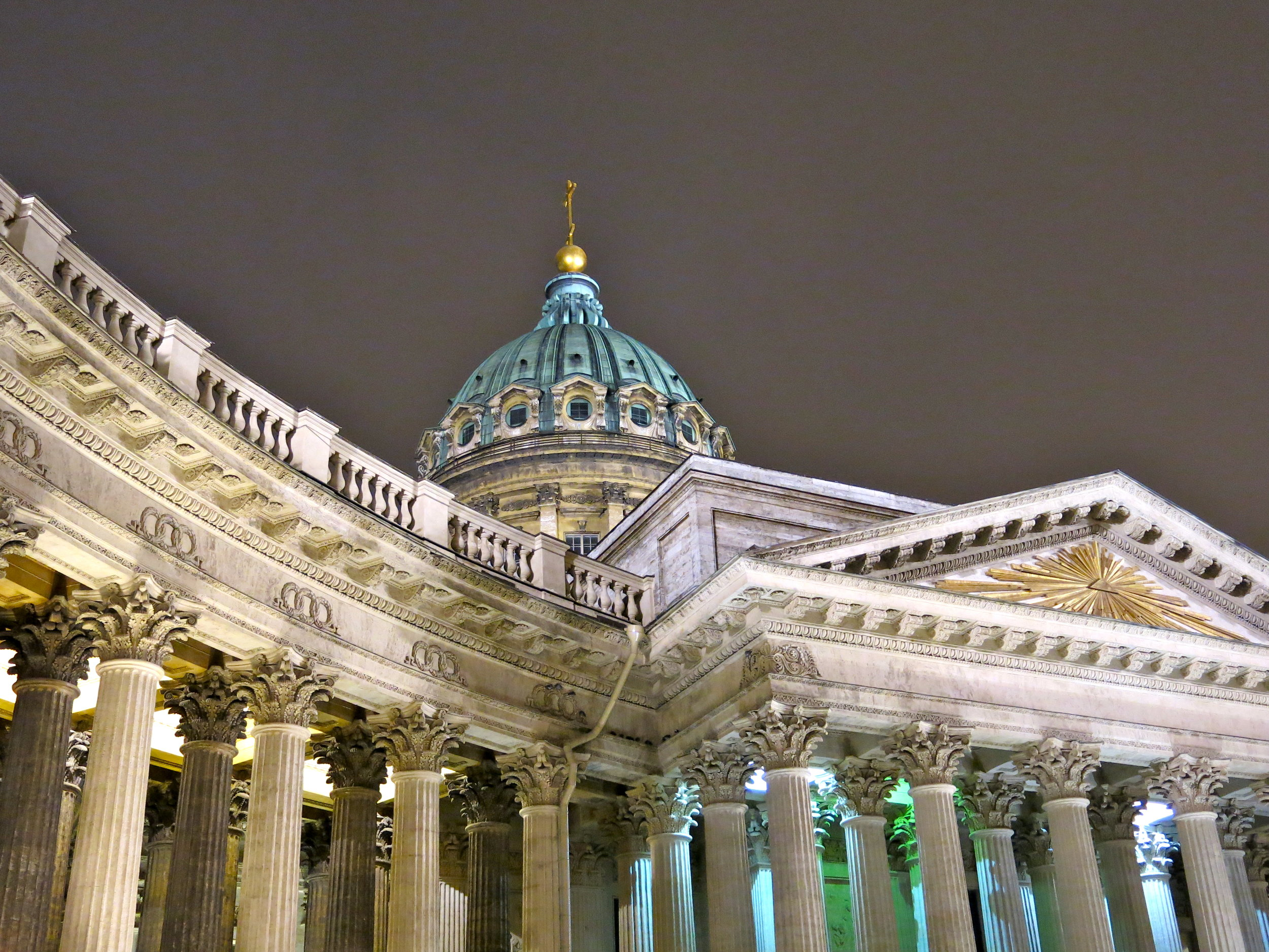 The colonnade in front of Kazan Cathedral and its giant dome