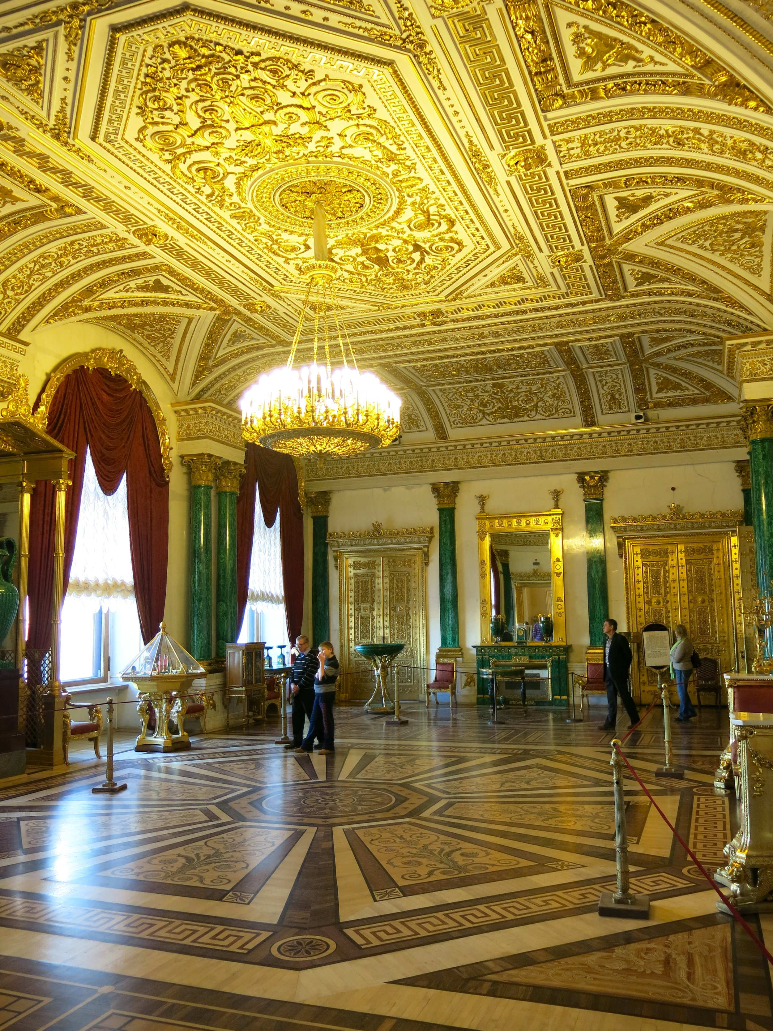 The Malachite Room and its green columns made of malachite