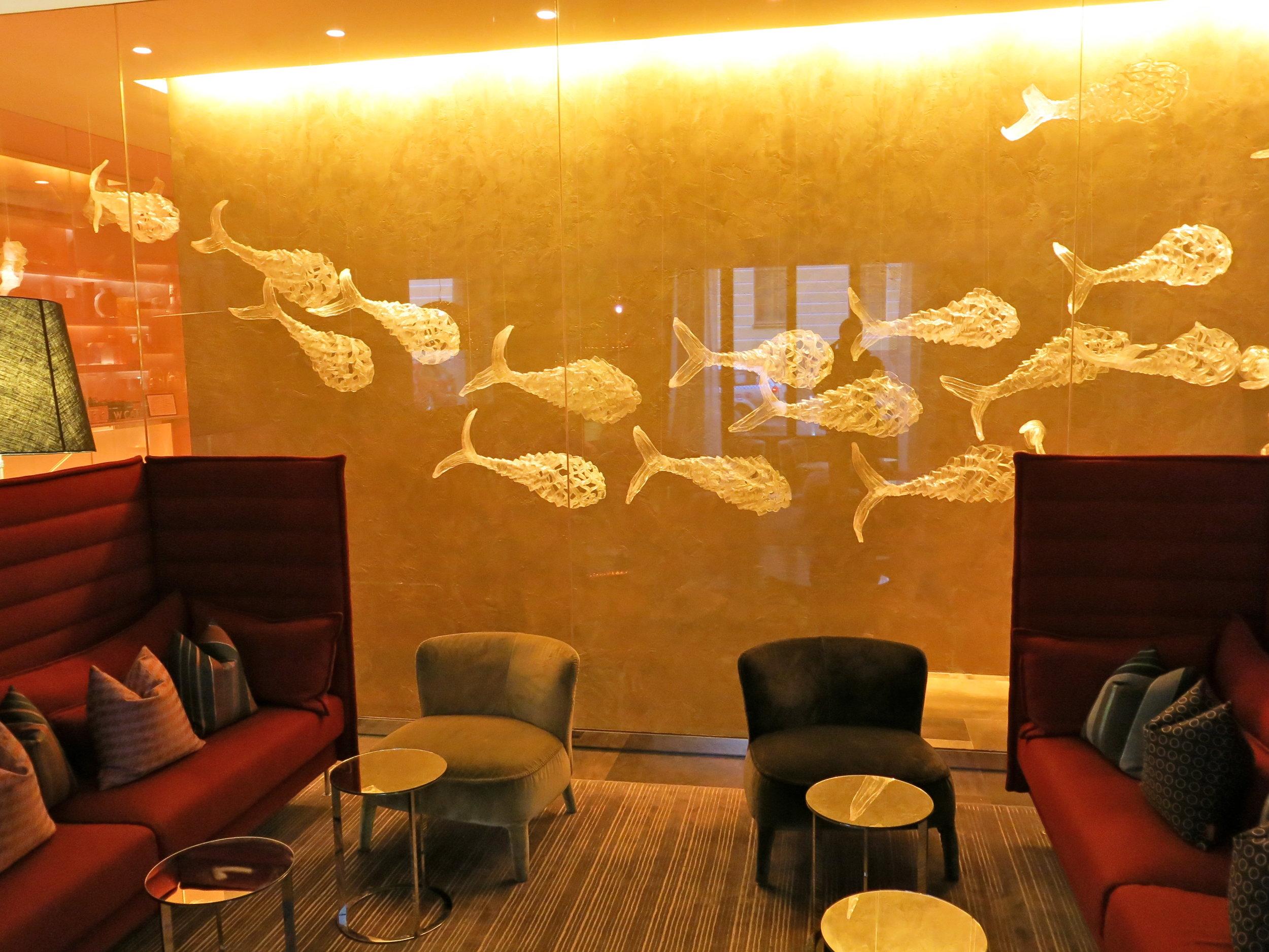 Artistic arrangement in the cozy lobby of SO-Sofitel