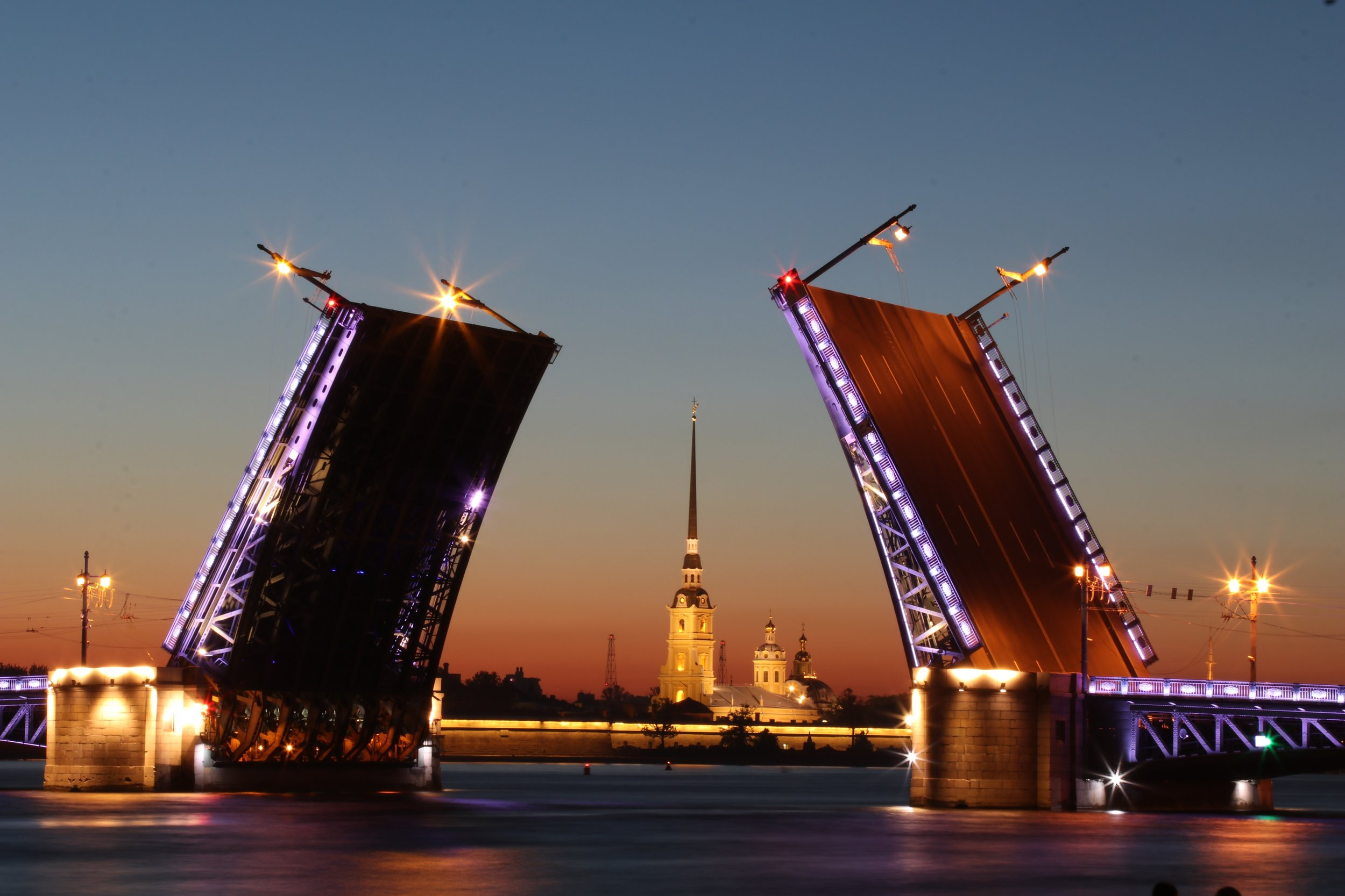 The Peter & Paul fortress on the bank of the Neva river