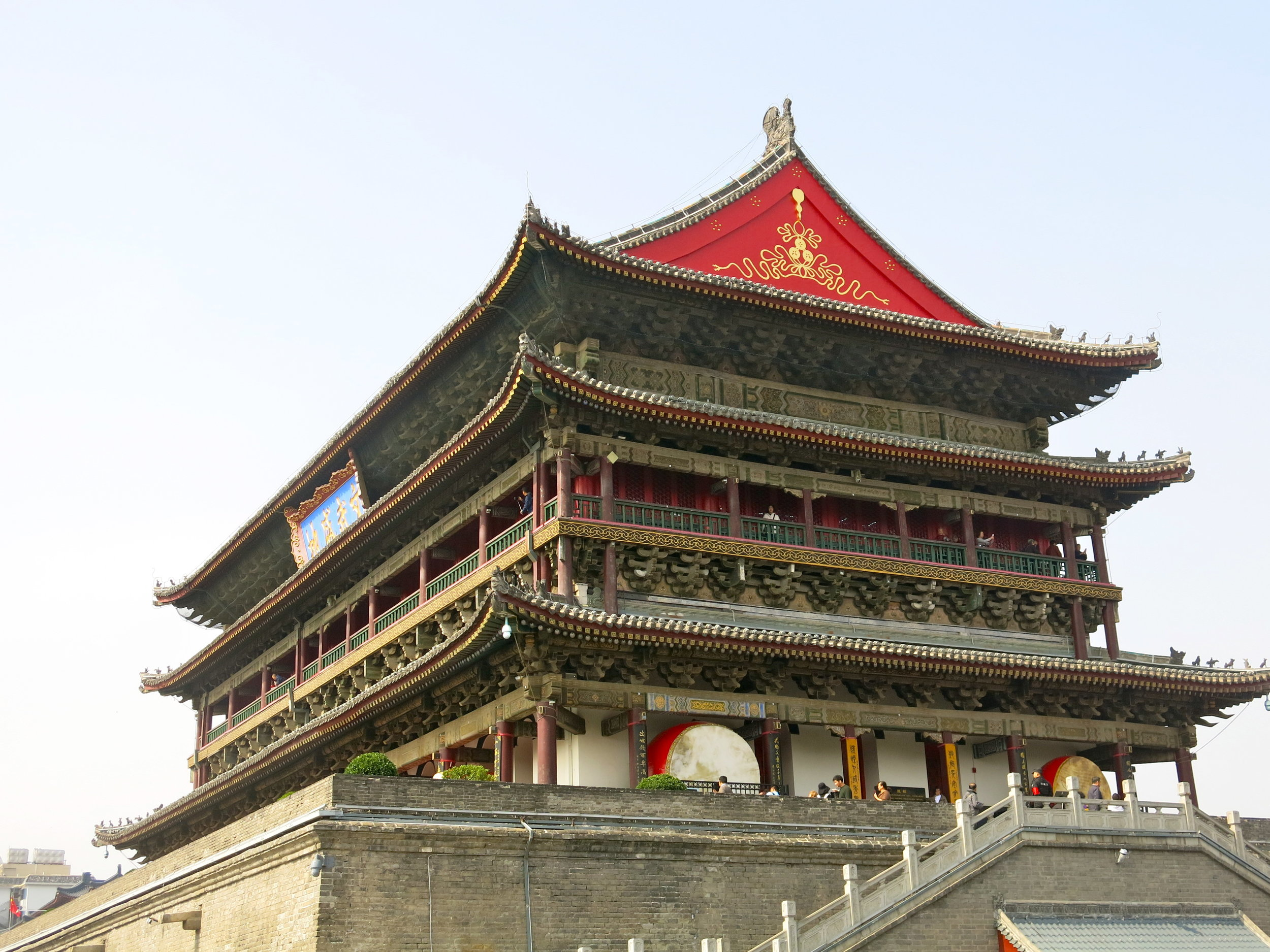 The imposing Drum tower used to indicate the end of the day