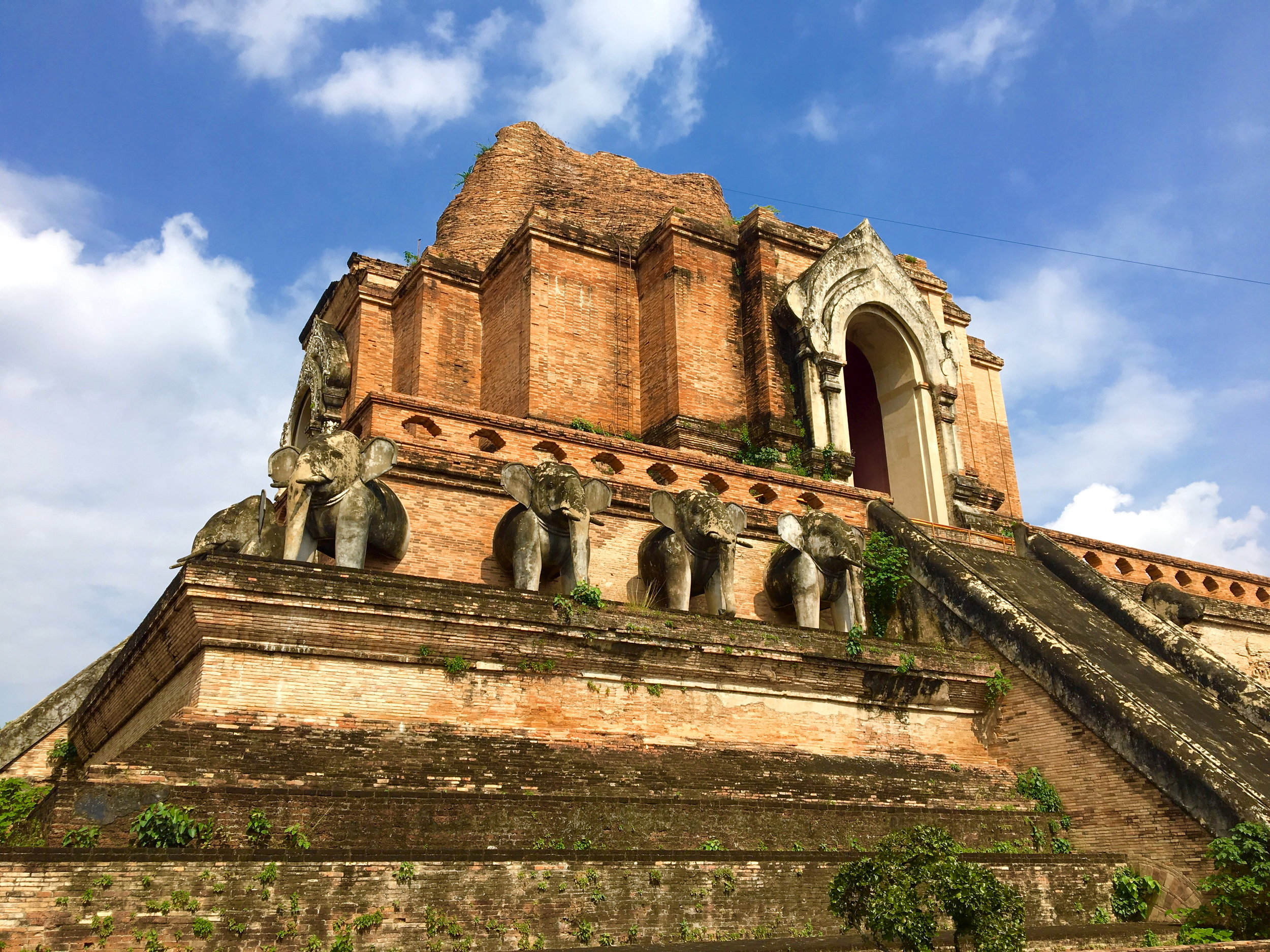 The massive central Chedi (stupa) of the Wat Chedi Luang