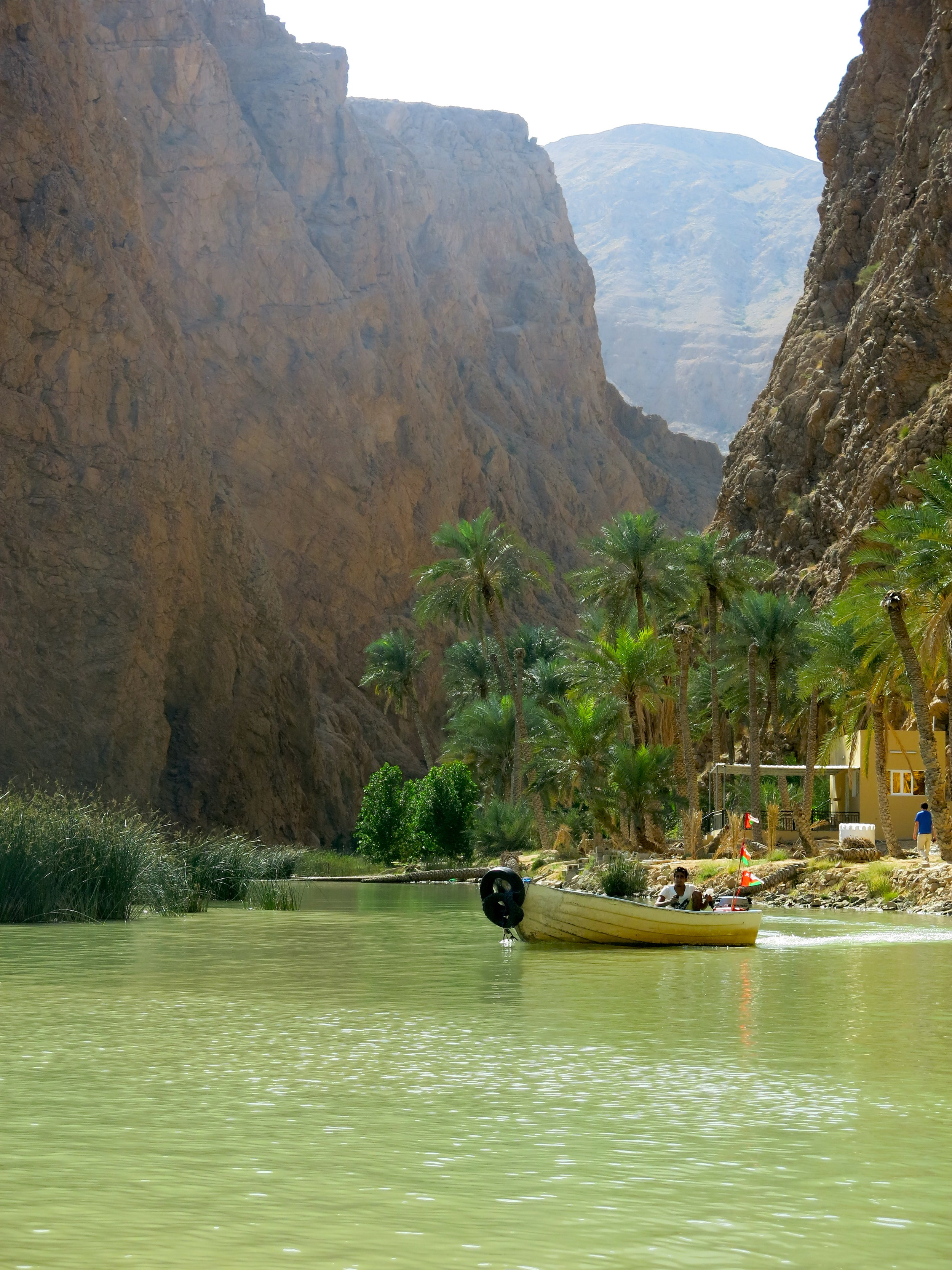 Arriving at the starting point of the hike in Wadi Shab