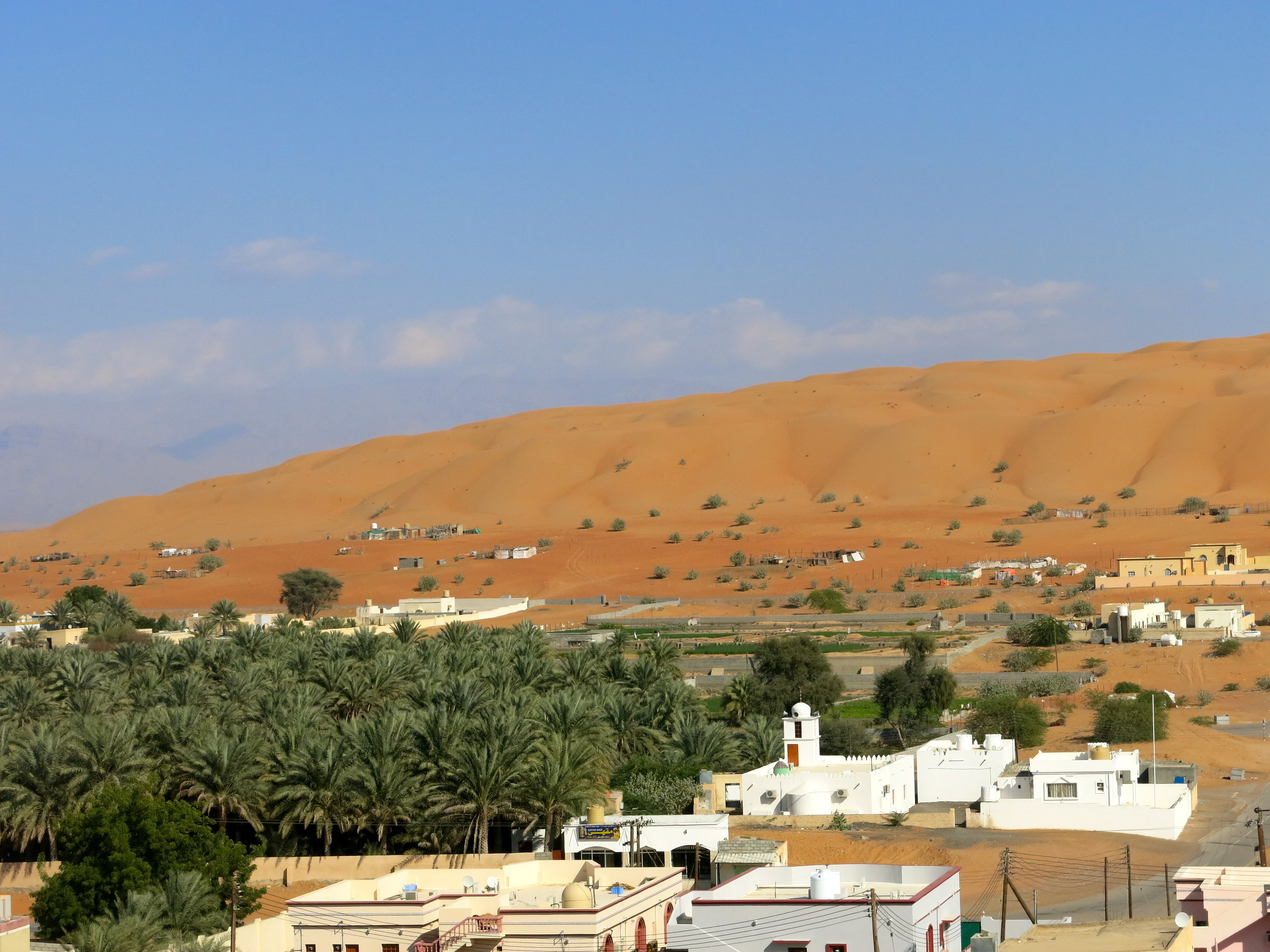 The last village before the dunes of Wahiba Sands